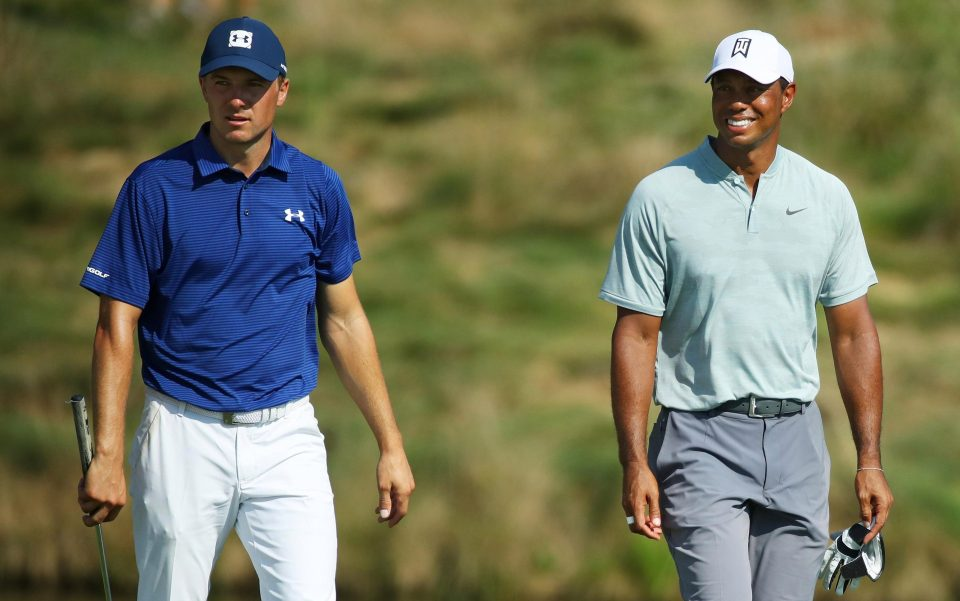Woods put playing partner Jordan Spieth in the shade in the first round of the BMW Championship