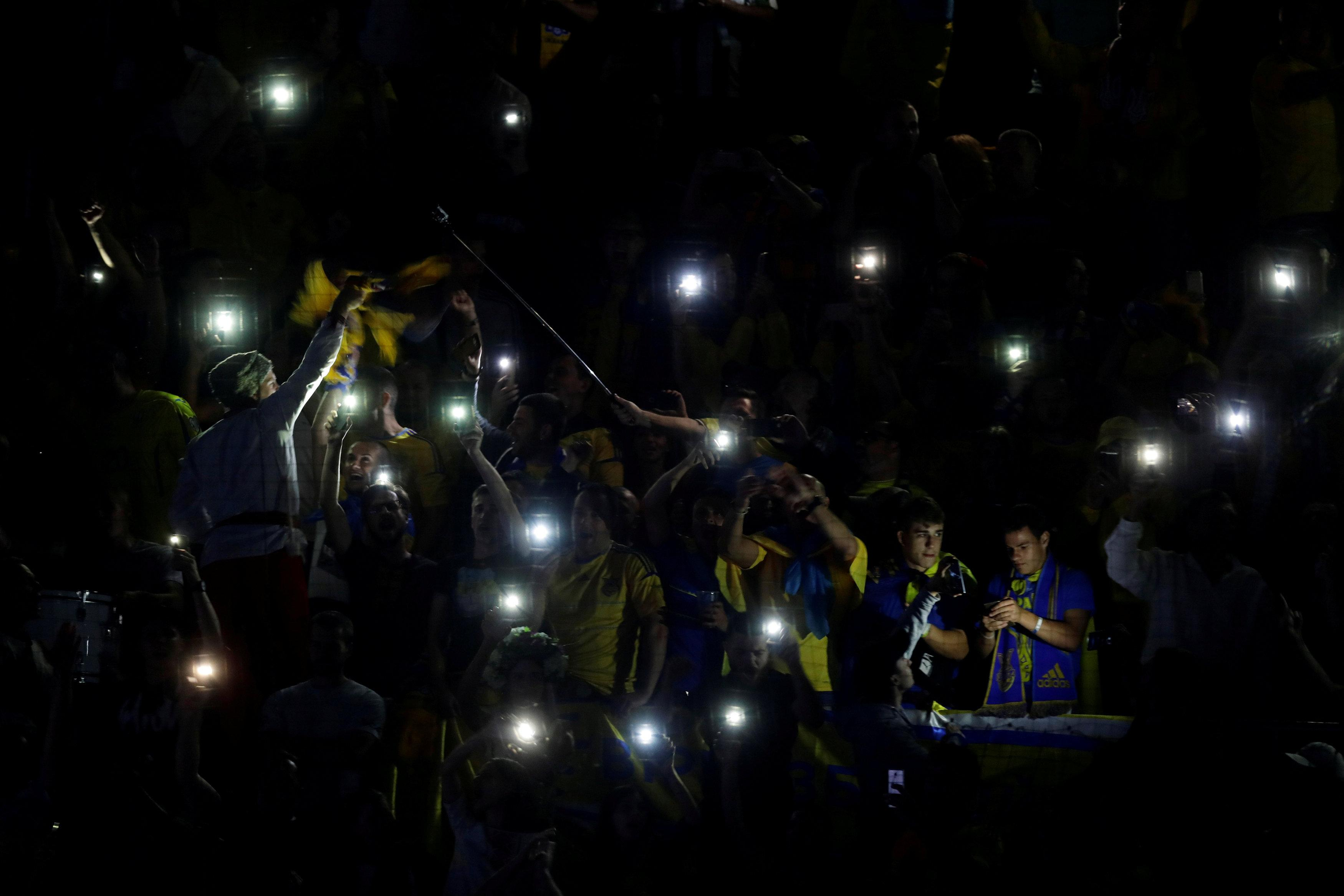 There was a power cut inside the ground prior to kick-off