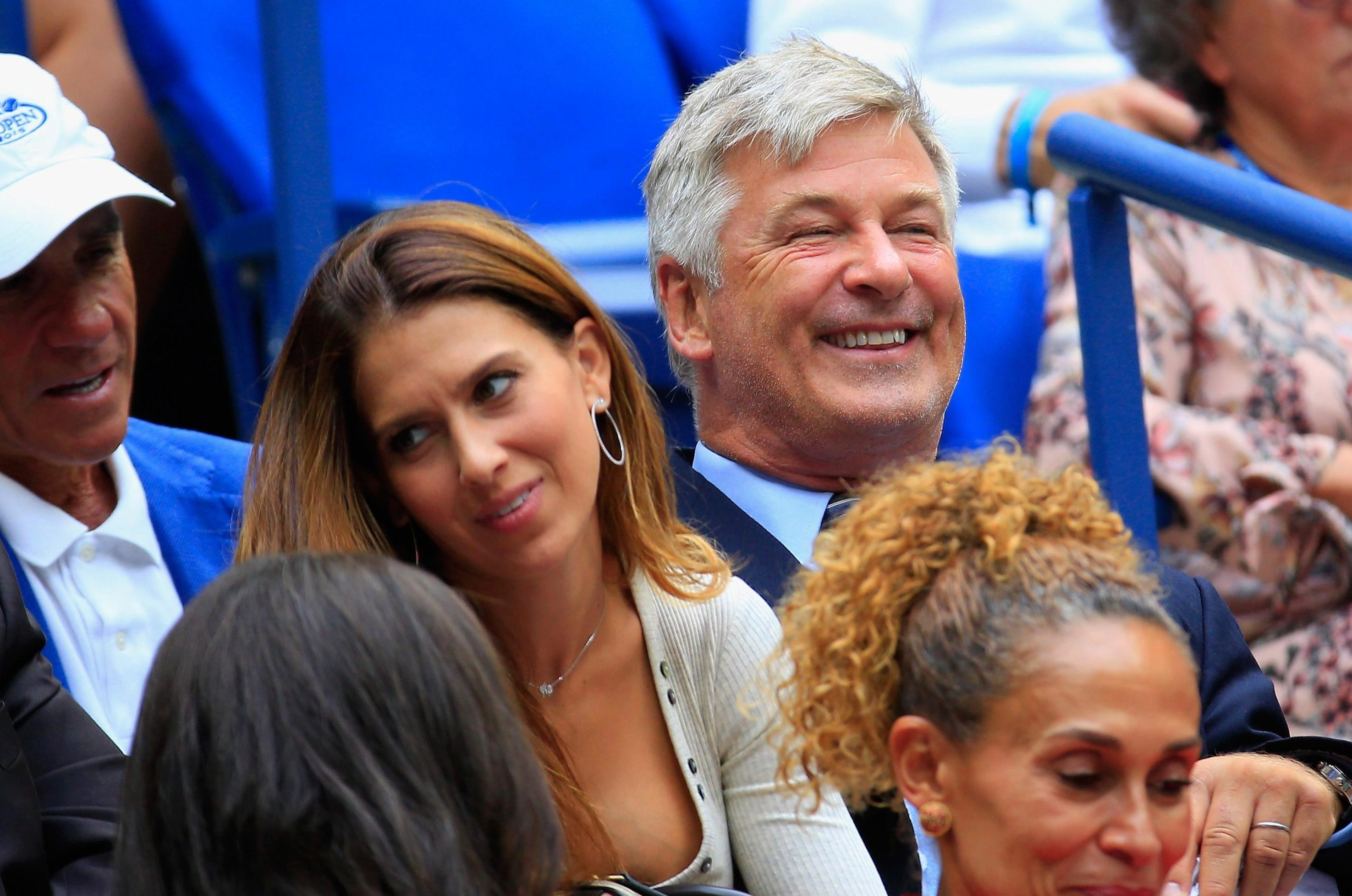 Alec Baldwin was seen in the crowd - expecting a five-set thriller but it was not to be