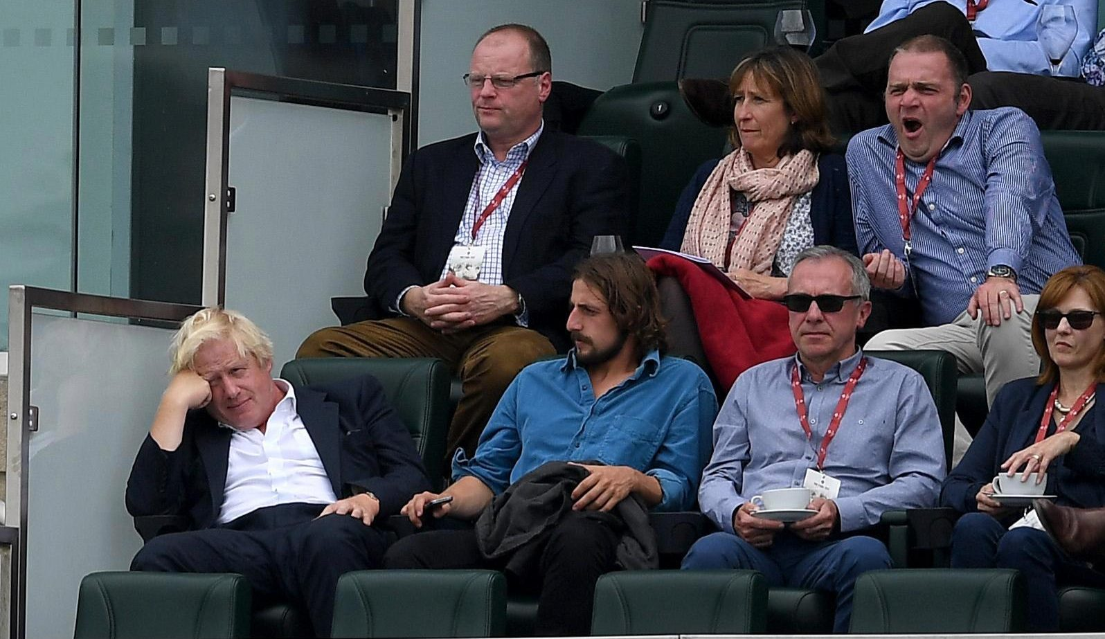 BoJo was shown looking shattered in the stands