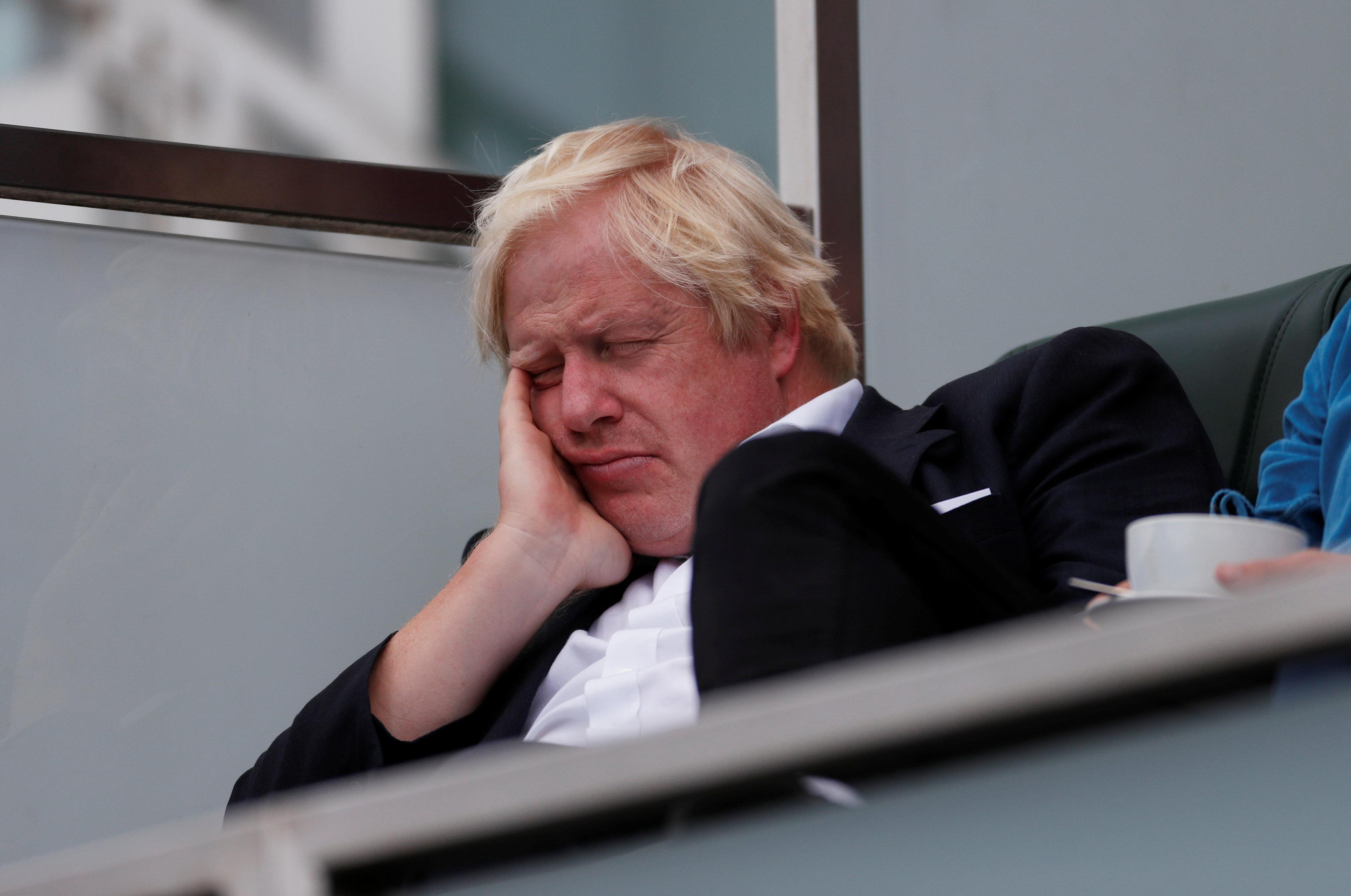 Boris Johnson falls asleep during England vs India cricket match after stressful week
