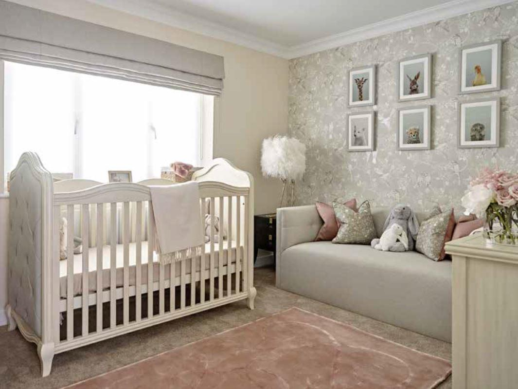 But the nursery room for four-month-old Alayna has been turned round completely by the interior designers