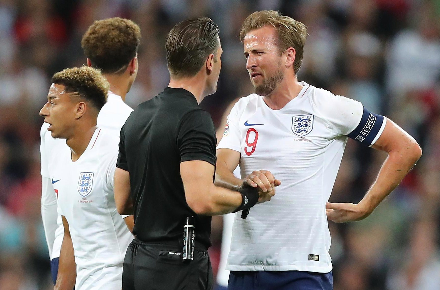 England skipper Harry Kane was fuming with the referee after he denied them a point against Spain