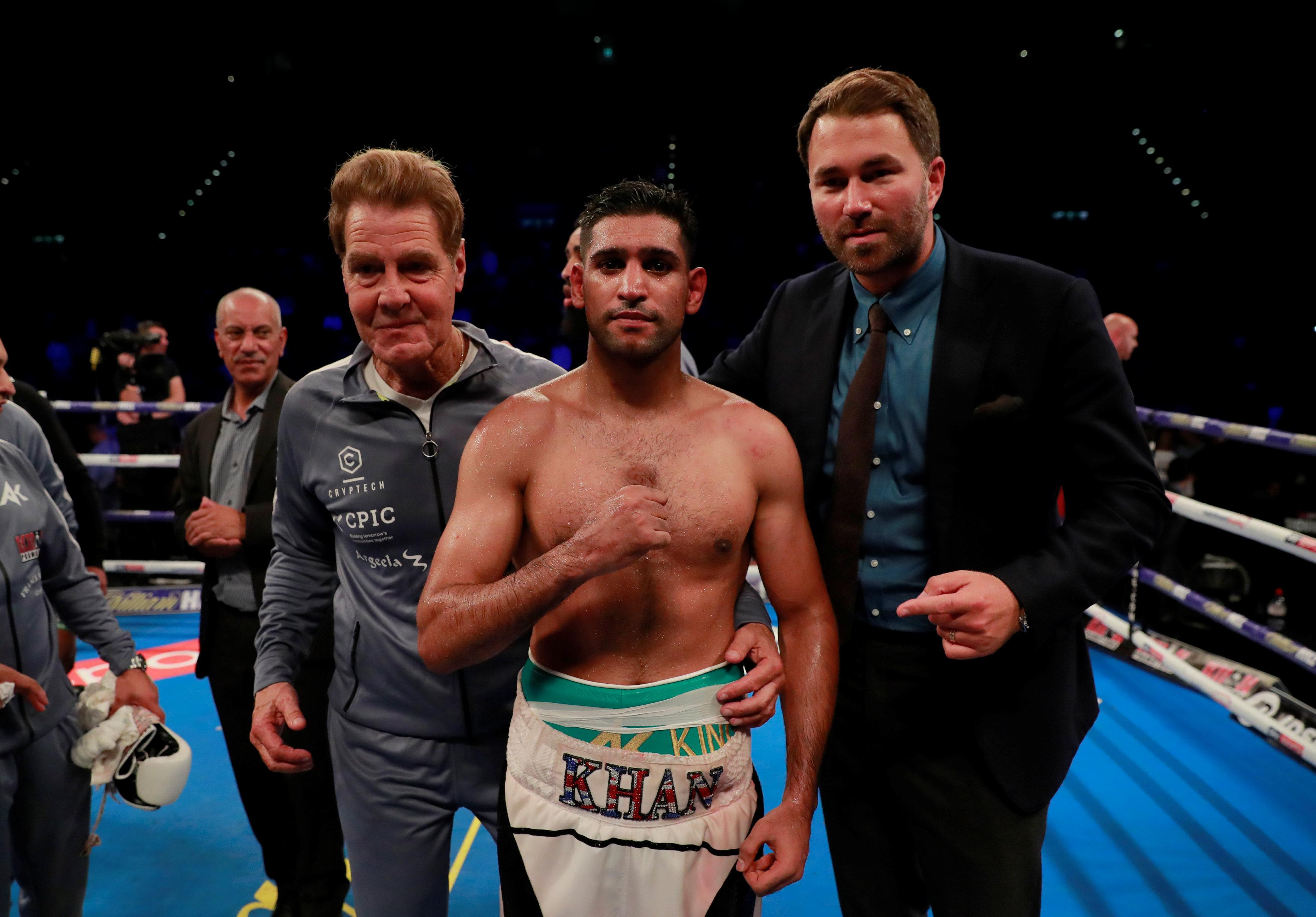 Amir Khan is looking for his next fight after beating Samuel Vargas