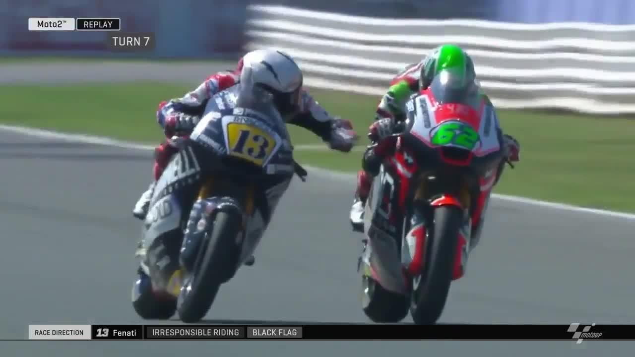 Fenati was lucky to not cause a crash during the race