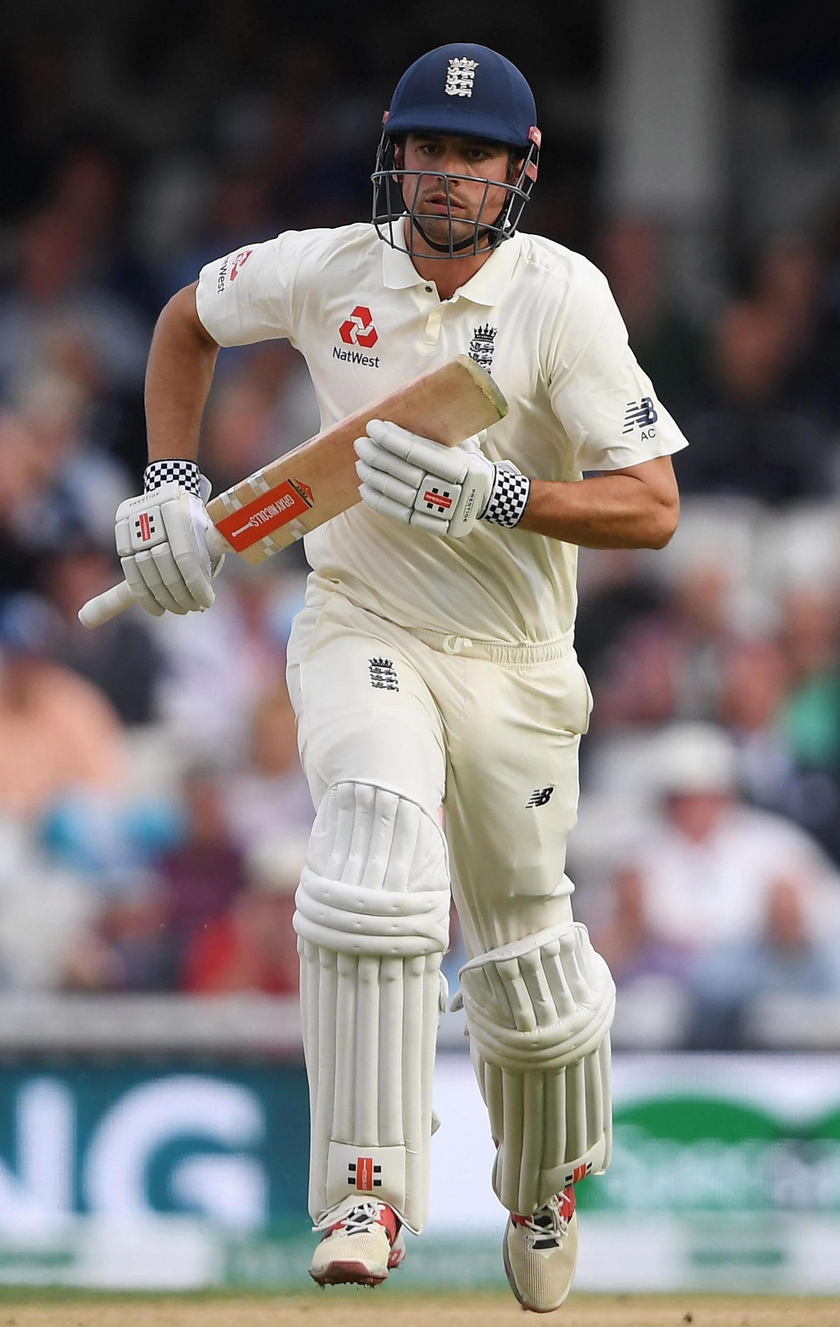 Legend Alastair Cook takes a quick single to boost his bid for a ton in his last Test innings