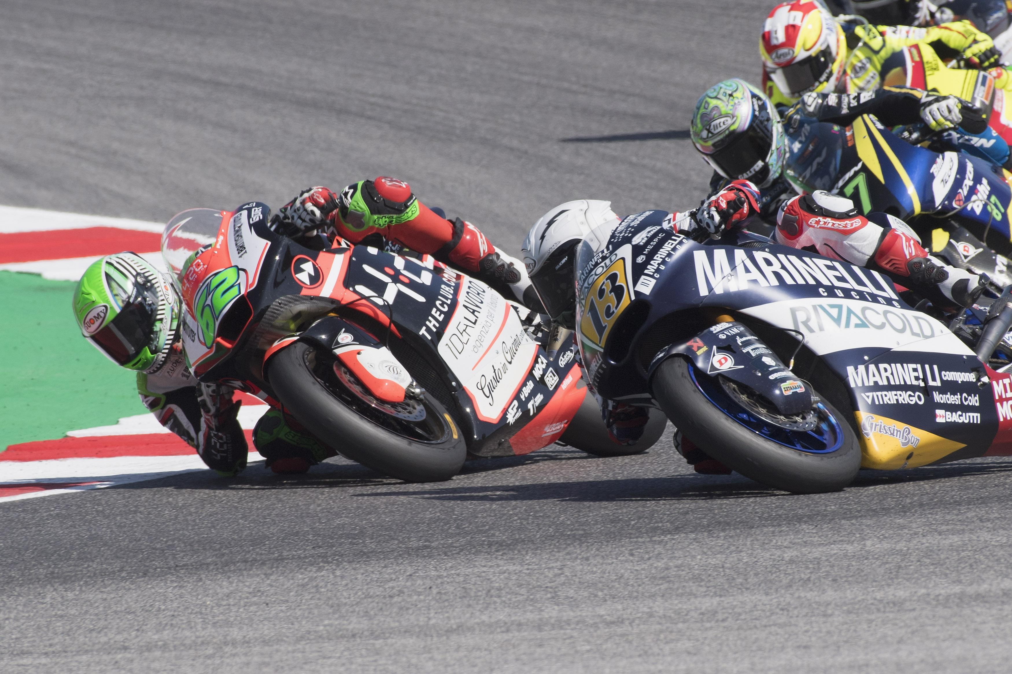 The 22-year-old was desperate to gain an advantage of his rival in the Moto2 race