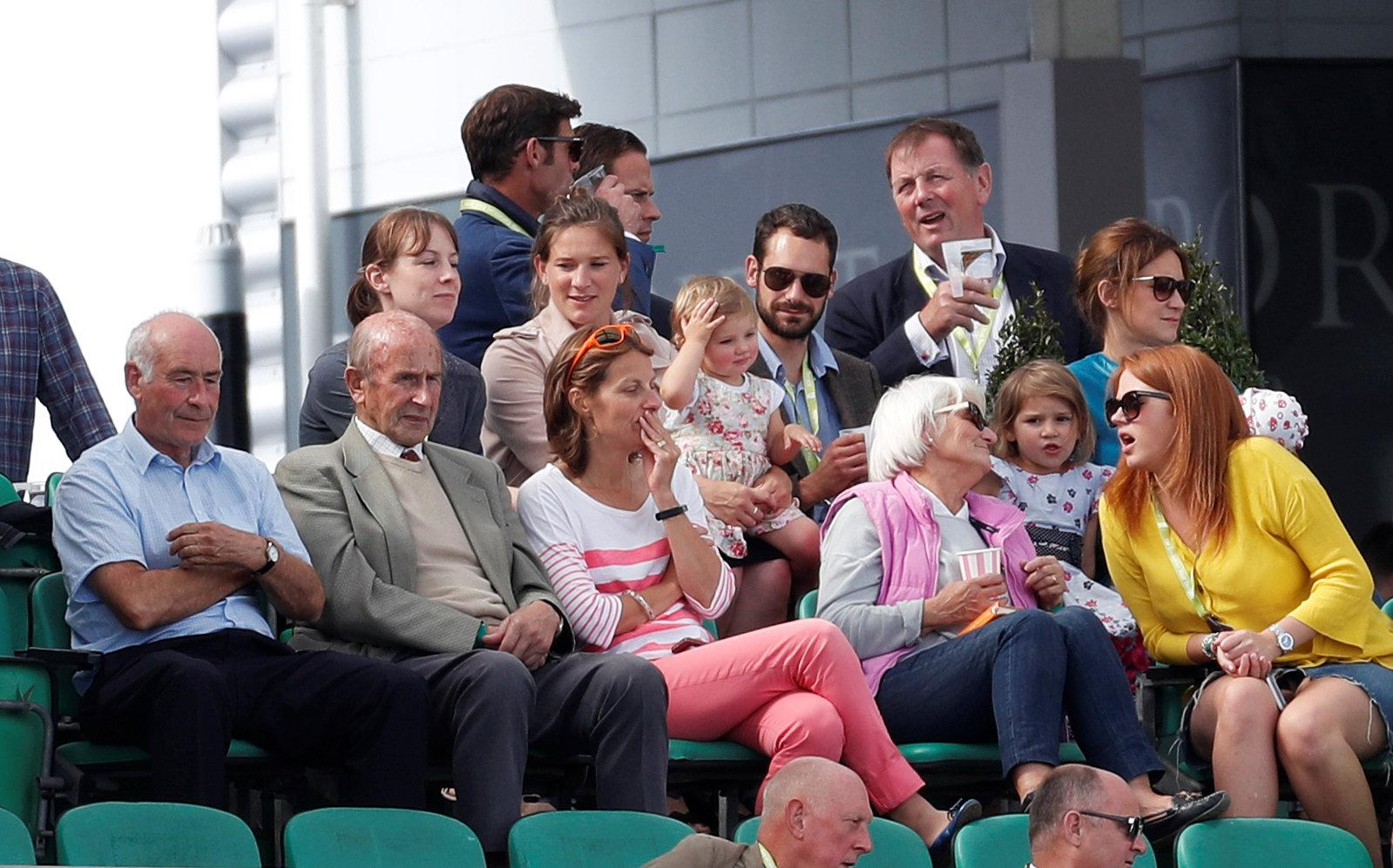 Alastair Cook's wife Alice, who was expecting their third baby today, watched on at The Oval as he became the highest-scoring left-hander ever in Test cricket