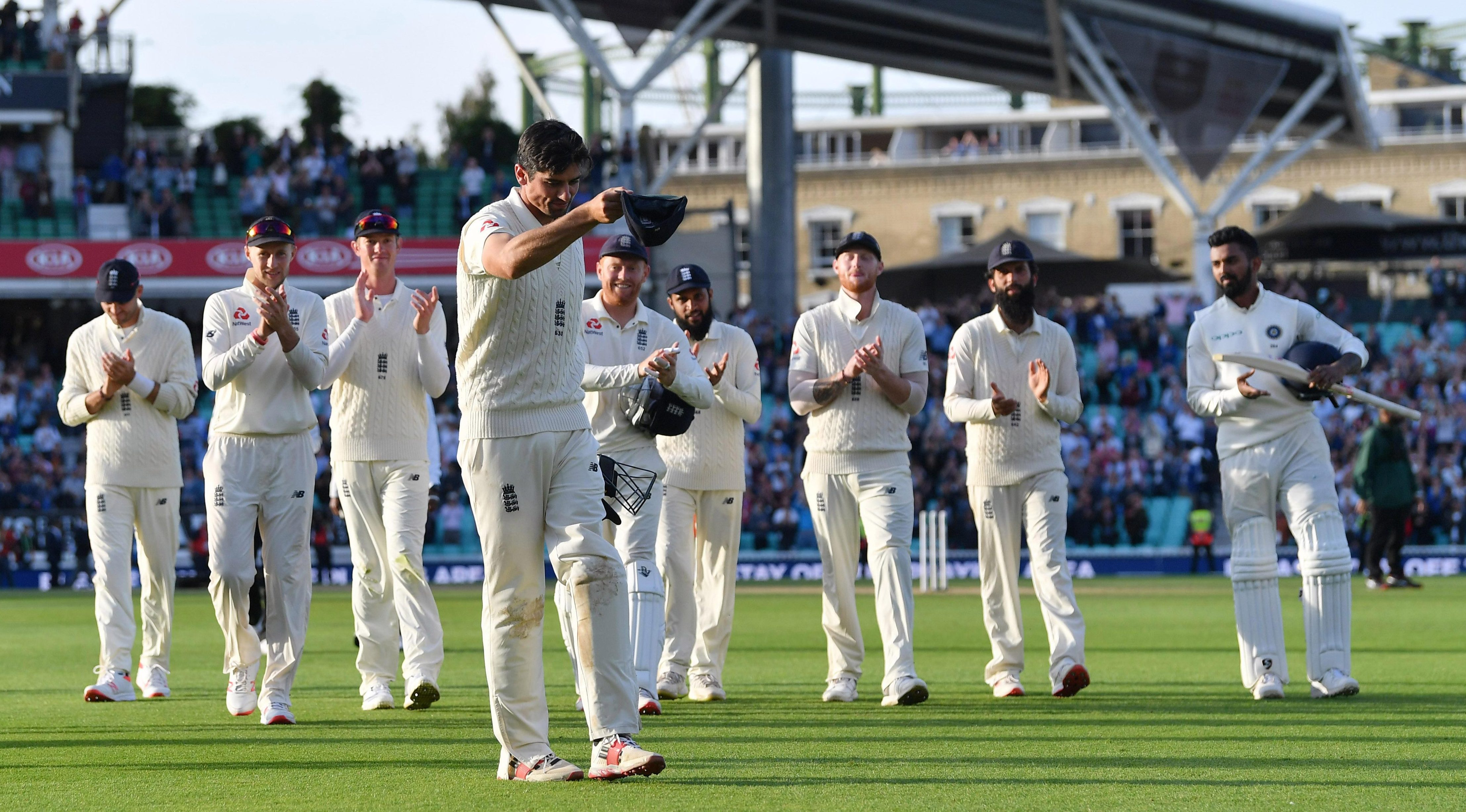 Day four of the Fifth Test belonged to Cook, who led the two teams off at the end of play