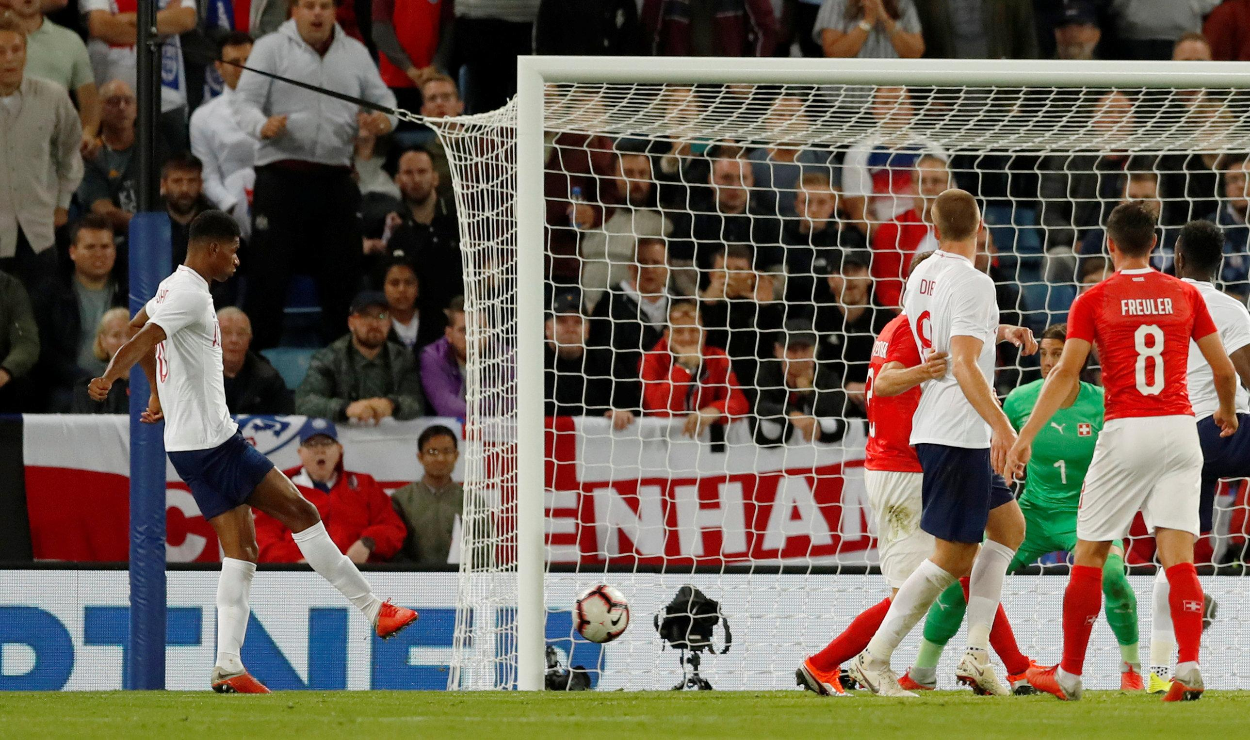 Marcus Rashford got his second goal in as many games after putting the Three Lions ahead against Spain at Wembley