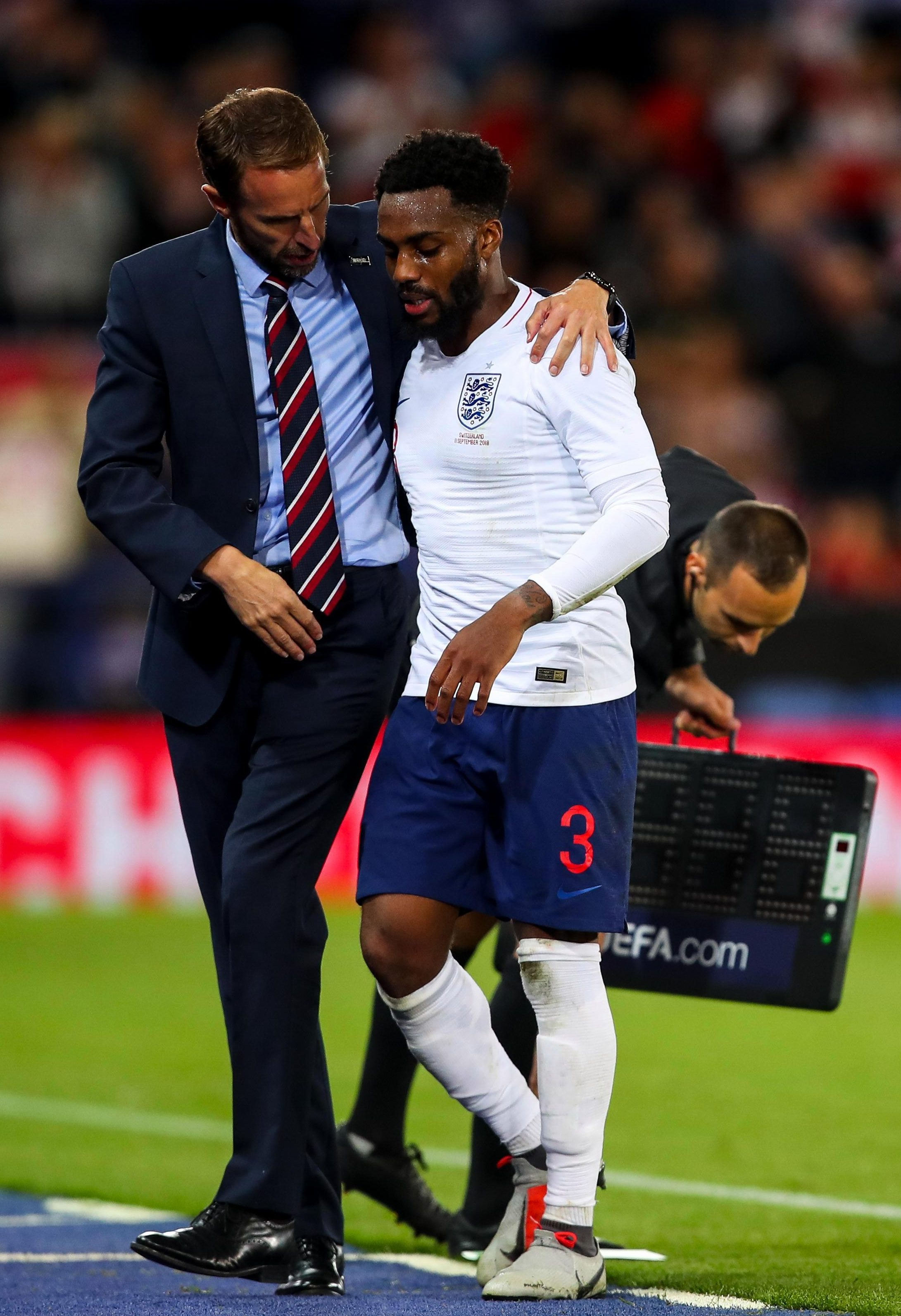 Gareth Southgate walked in after the England players had already had their chance to vent their views to each other