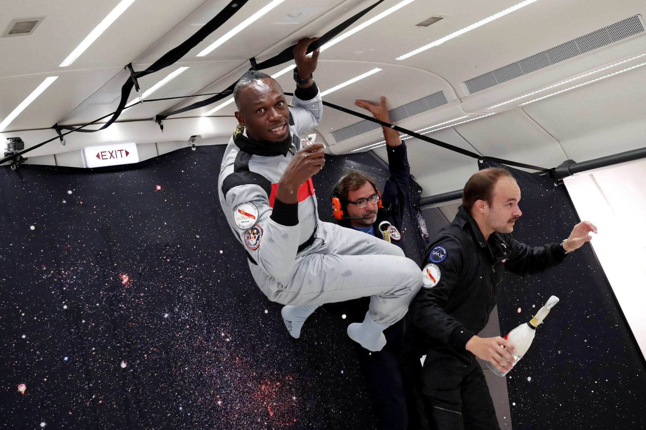 Olympic legend Usain Bolt has time to take it all in as he enjoys the high life