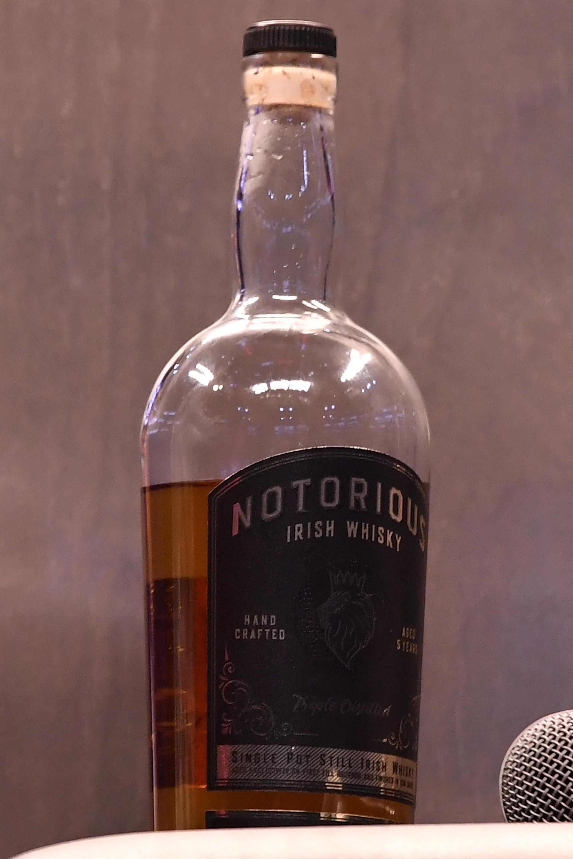 The Notorious Irish Whisky will be re-branded after the application was withdrawn