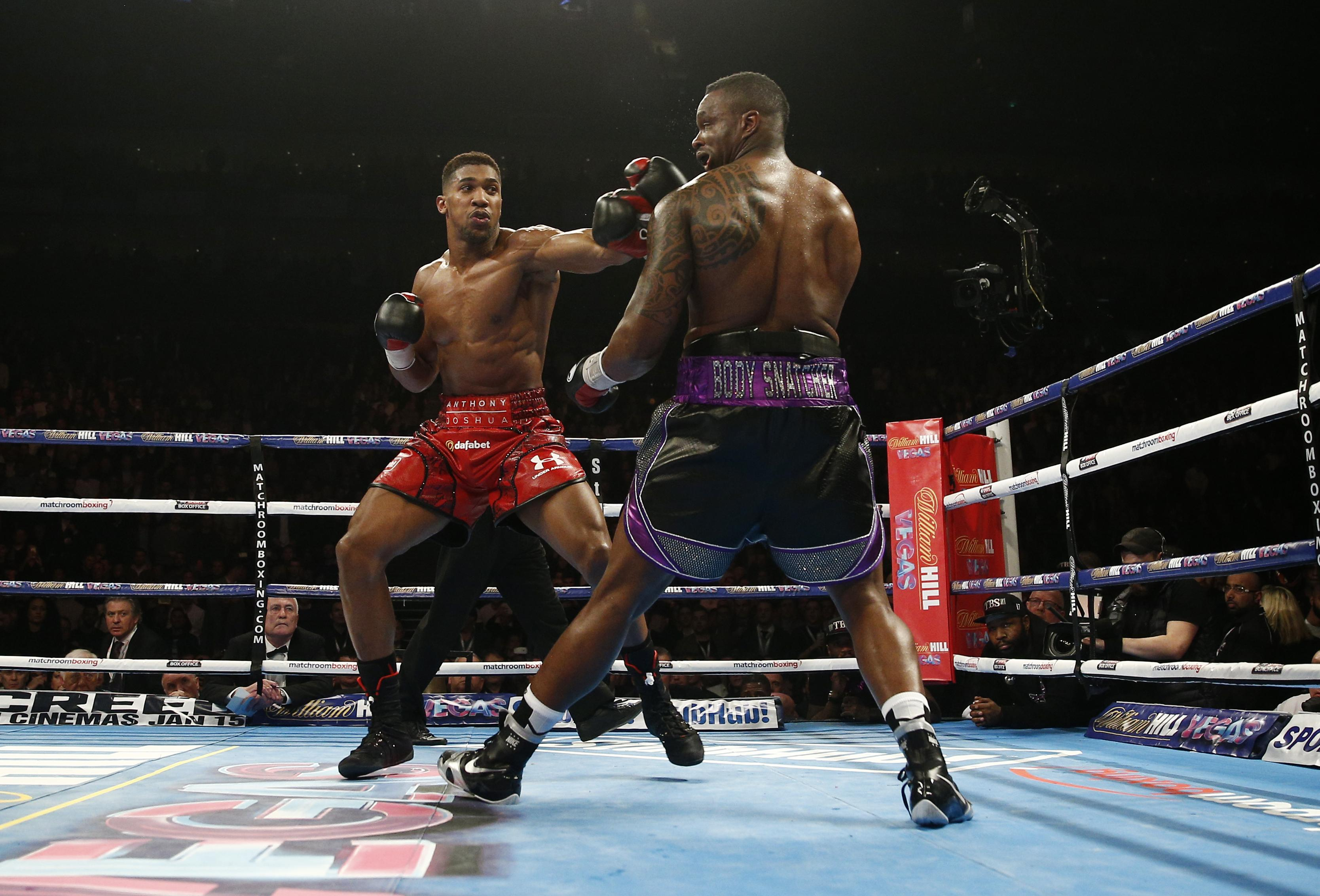Joshua beat Whyte at the O2 Arena in 2015