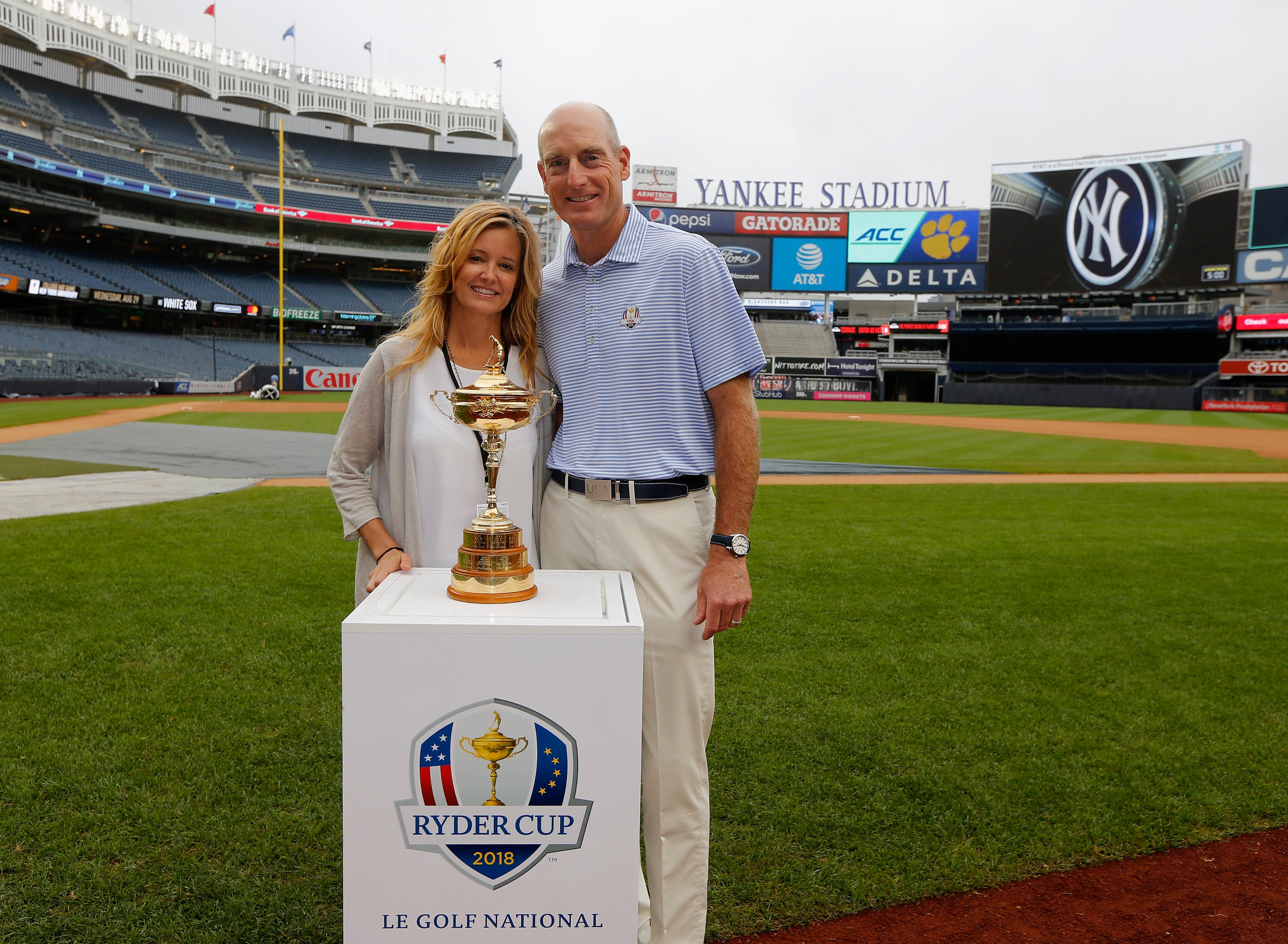 Jim and Tabitha pose with the Ryder Cup