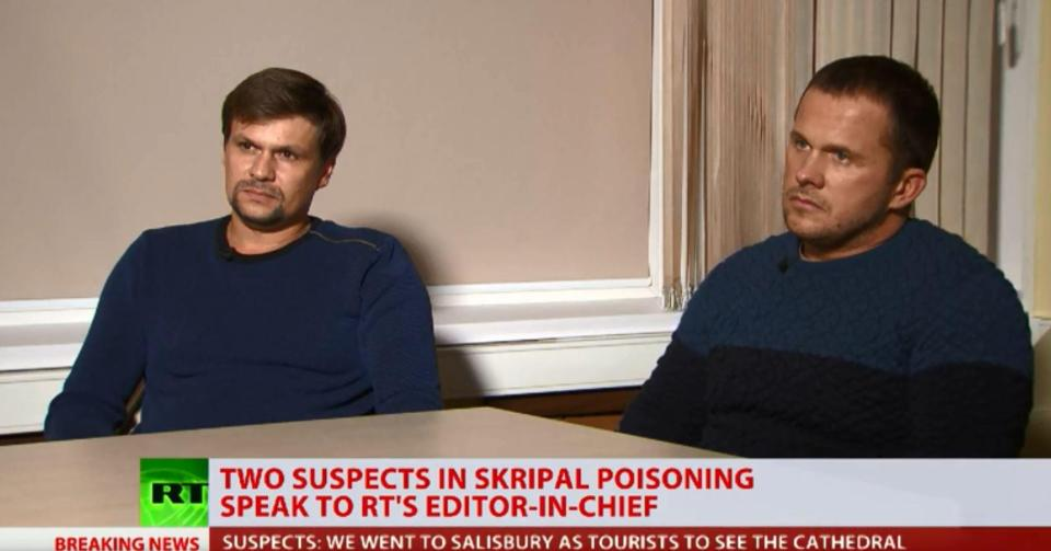 The Russians appeared on Kremlin propaganda network RT to deny responsibility for the Novichok hit on the Skripals