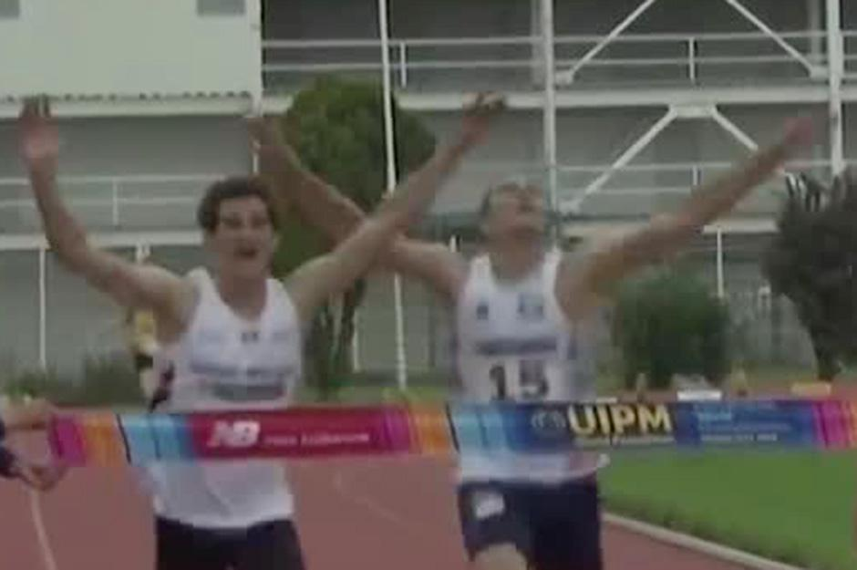 Jamie Cooke pipped the celebrating Frenchman to the line by 0.03 seconds