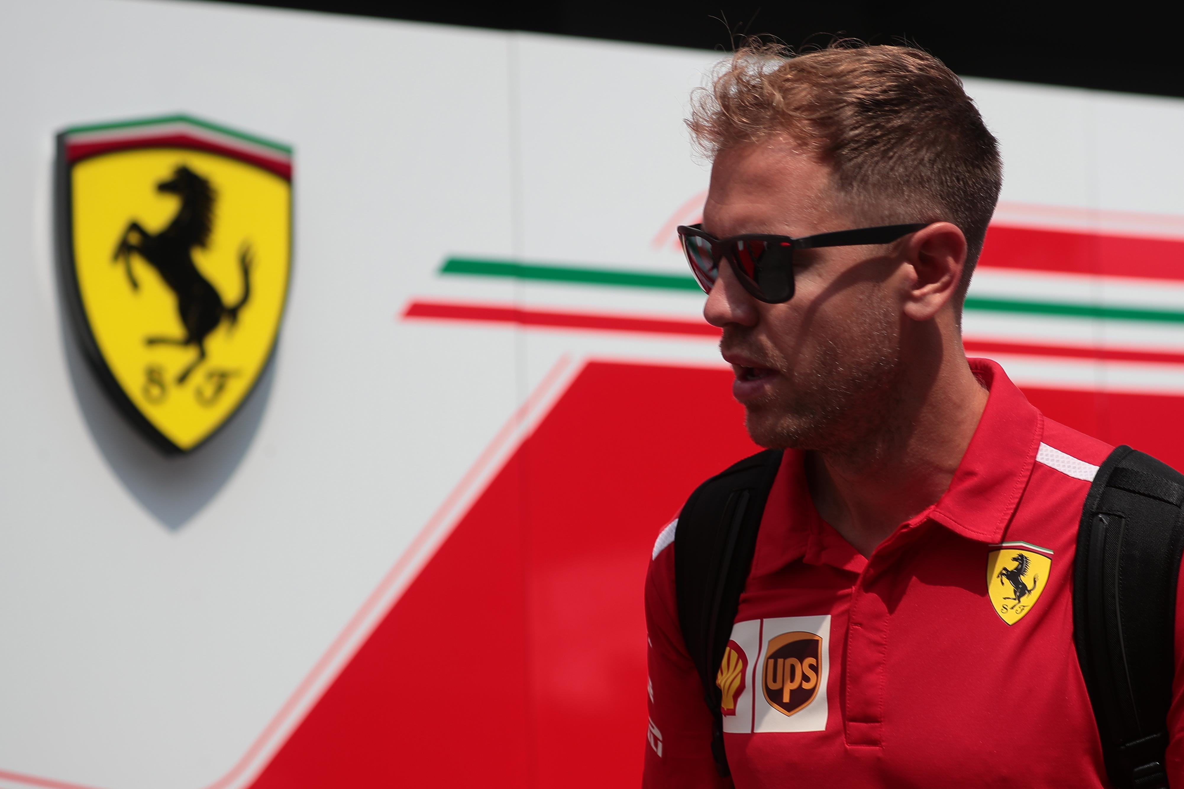 Sebastian Vettel says he does not feel the pressure despite another mistake