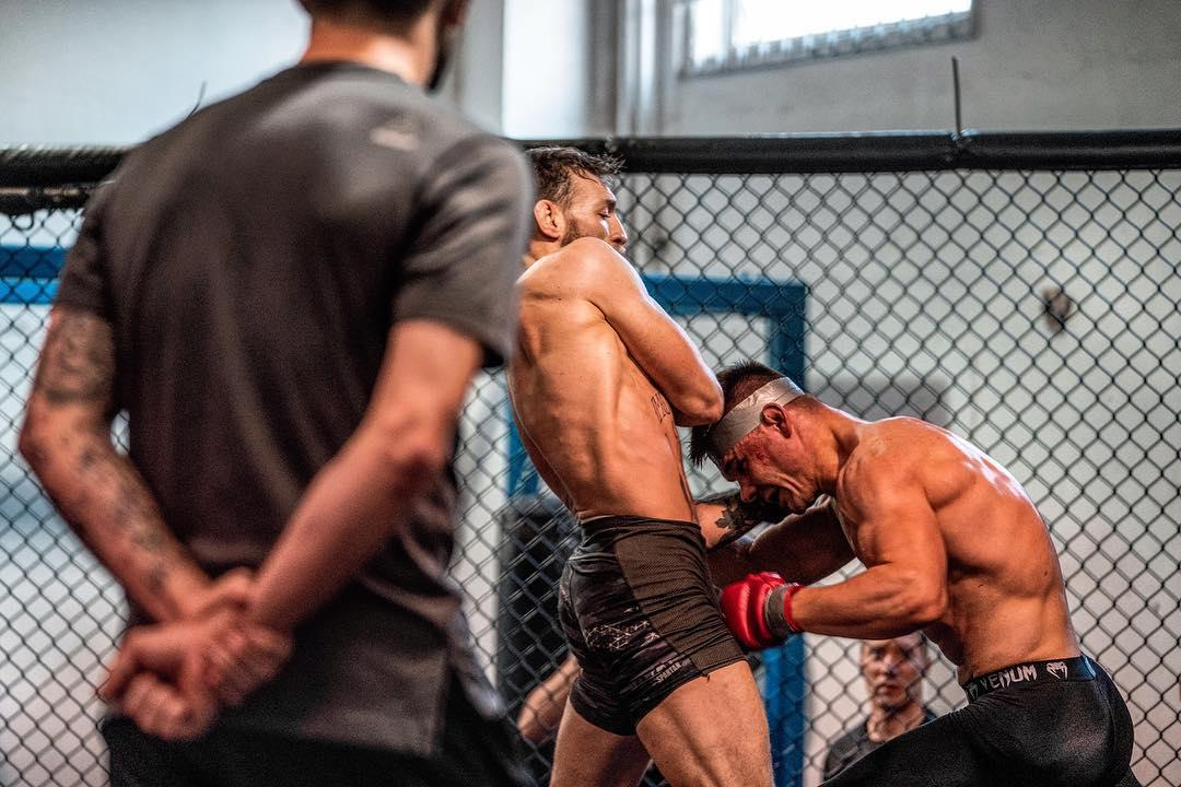 McGregor has kept fans up to date with his fight preparations and called this shot 'another day in fight paradise'