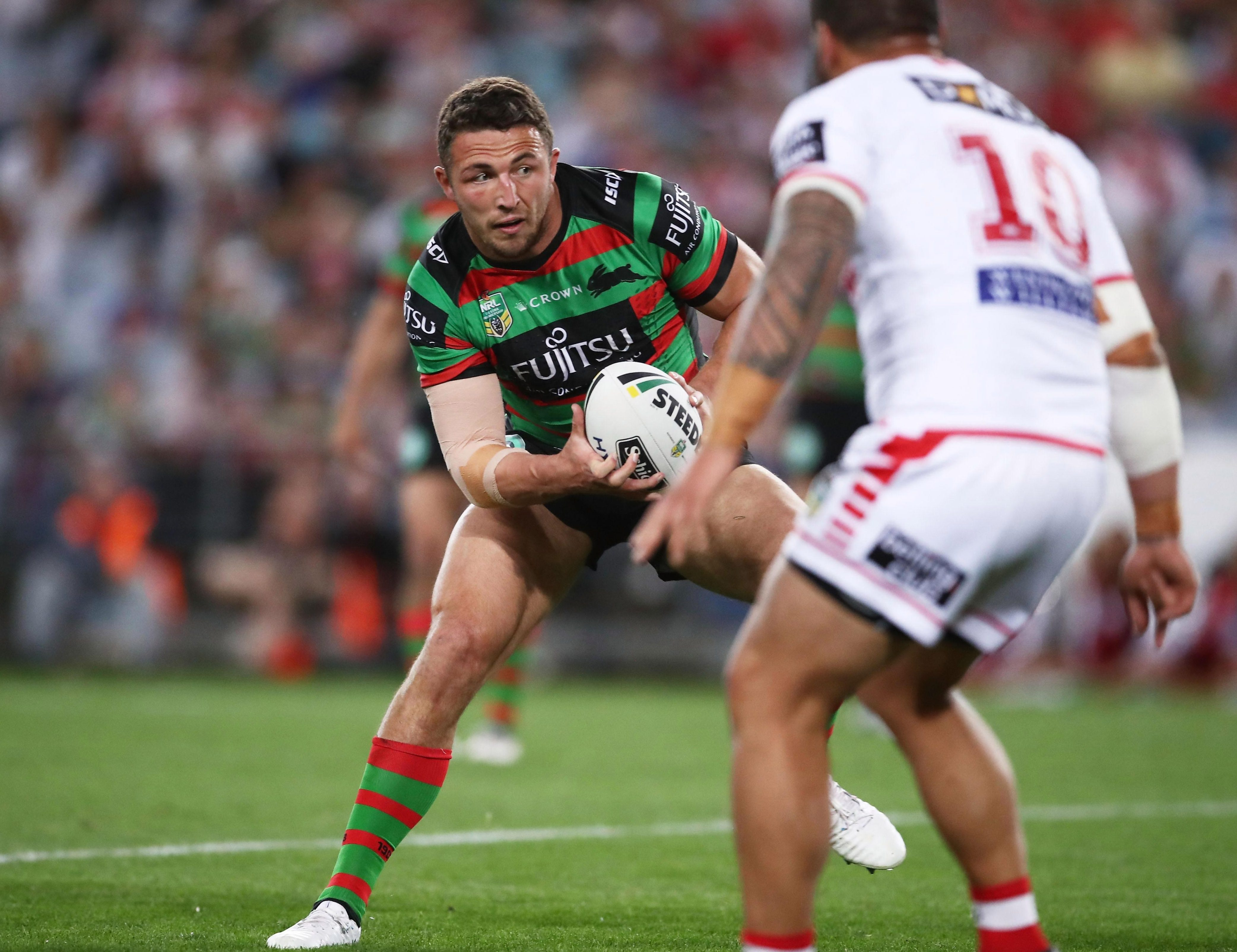 Burgess reportedly declined to comment when approached by reporters outside his house