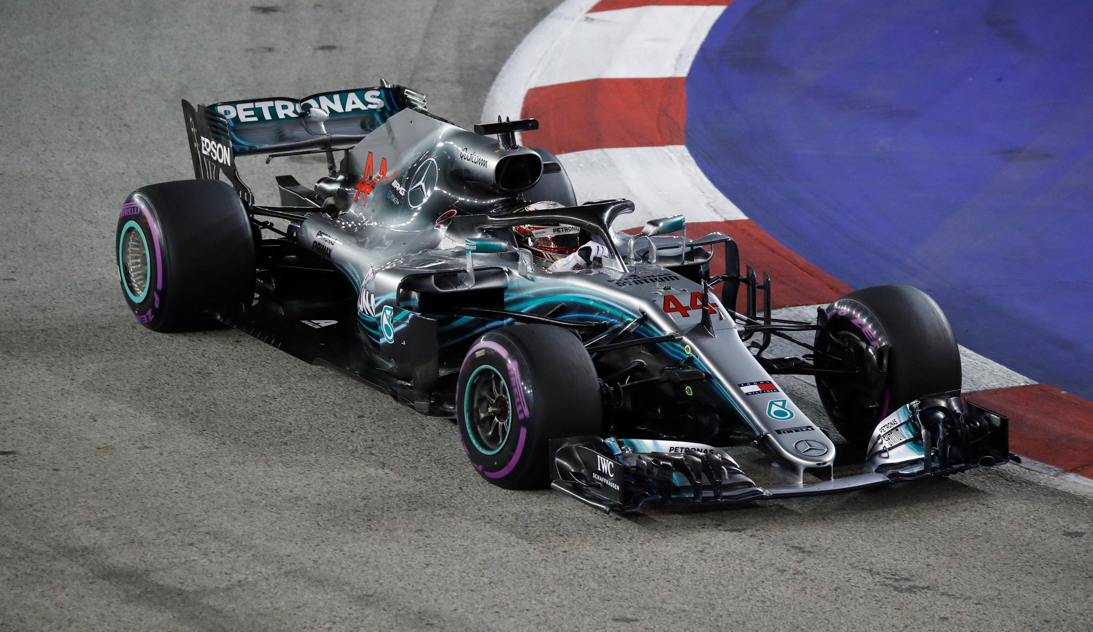 Lewis Hamilton stormed to a brilliant Singapore GP pole