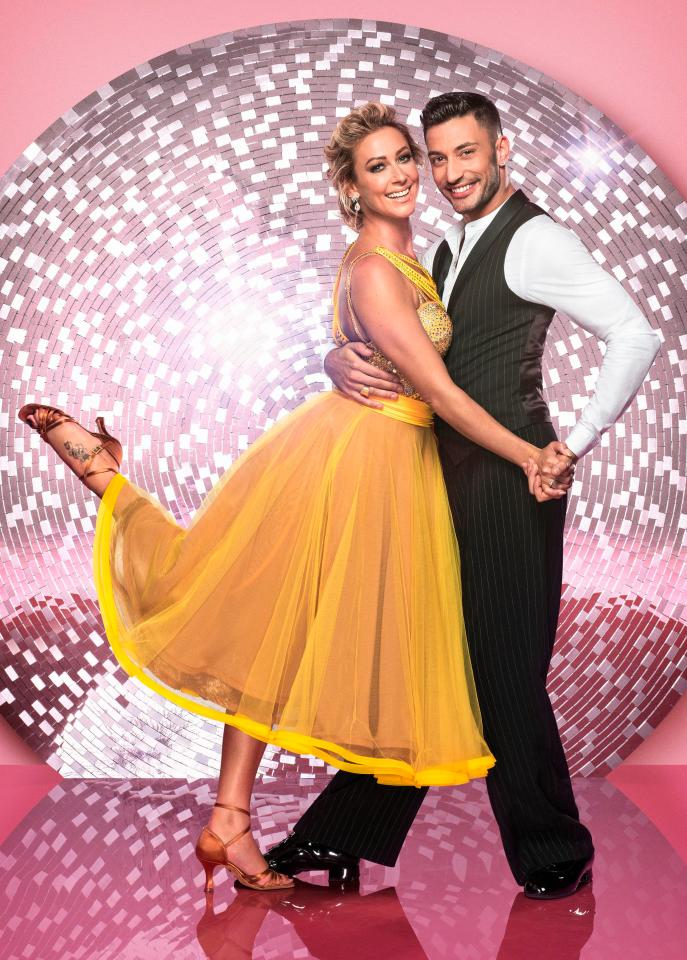 Faye is dancing with Giovanni Pernice
