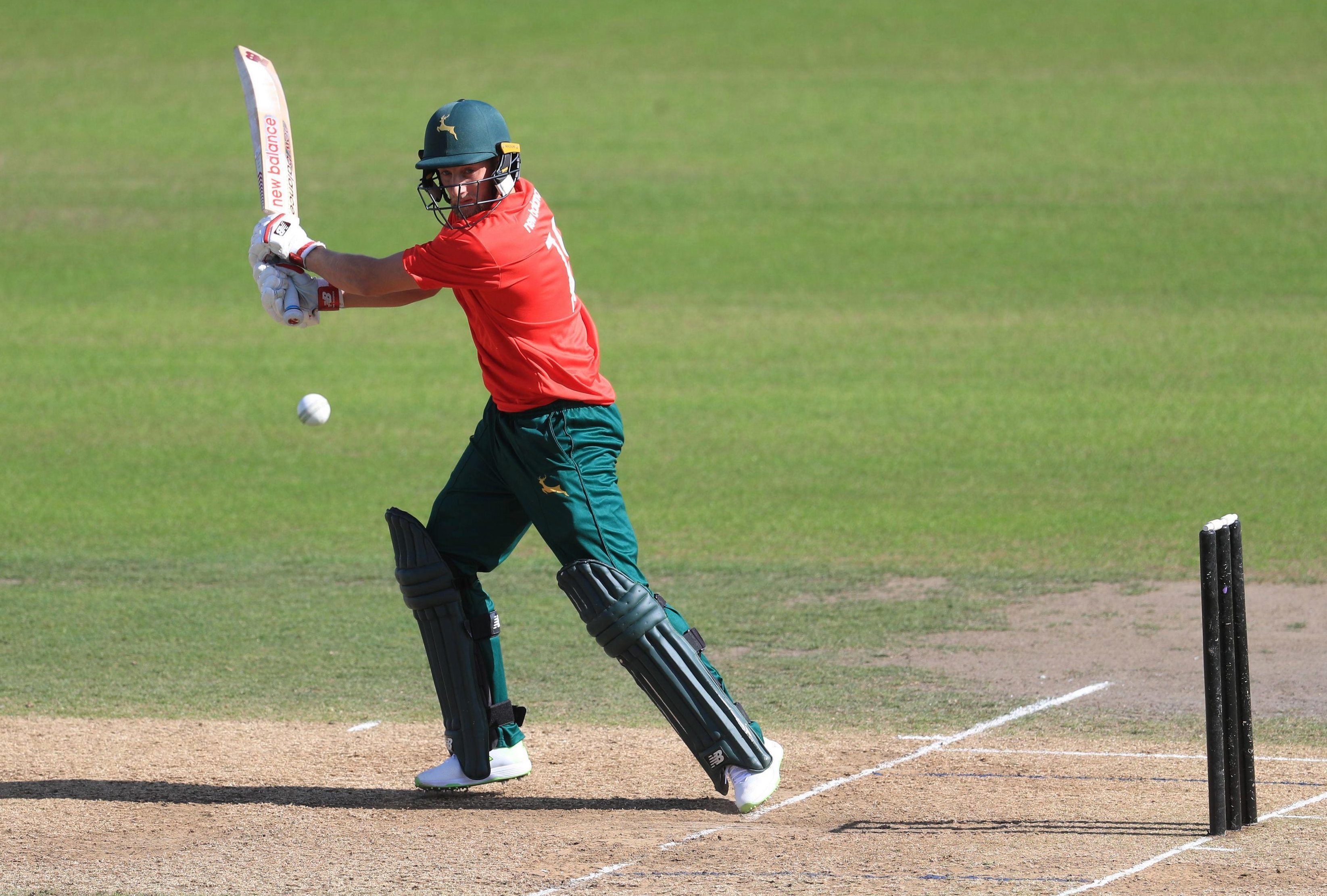 The North's Billy Root hits out during the experiment into a shorter style of cricket