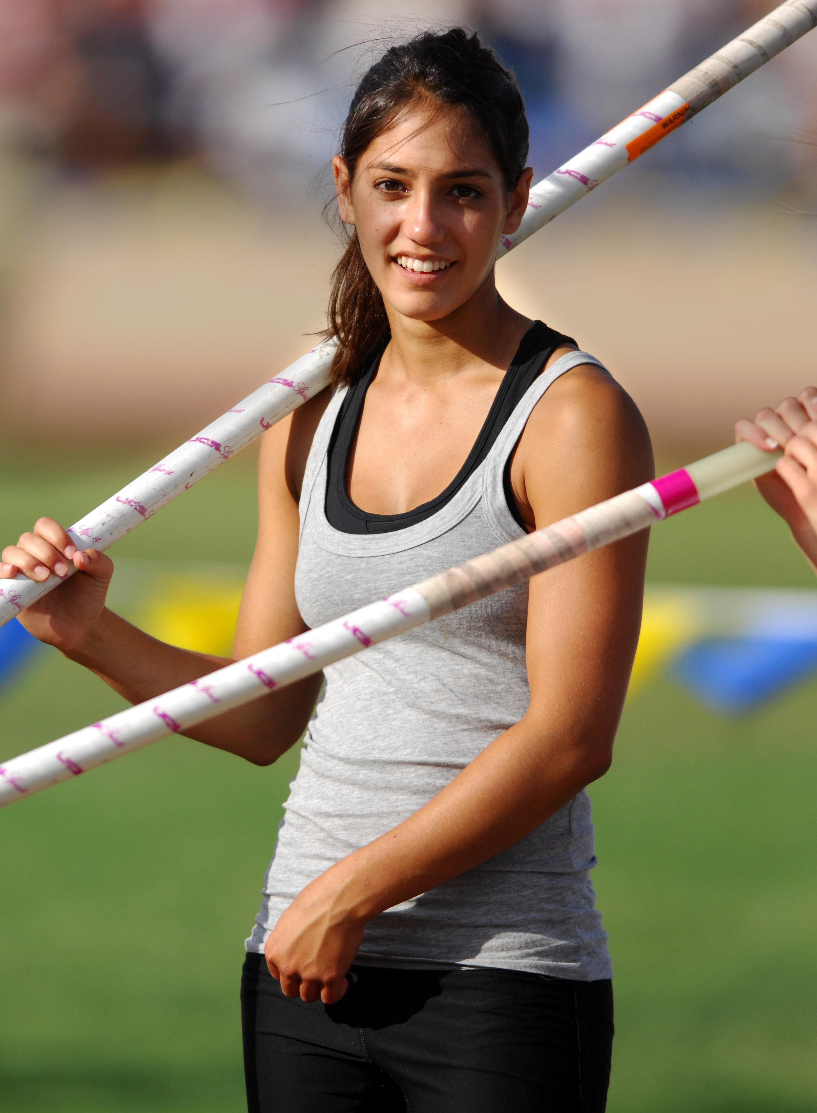 Allison Stokke is an athlete herself