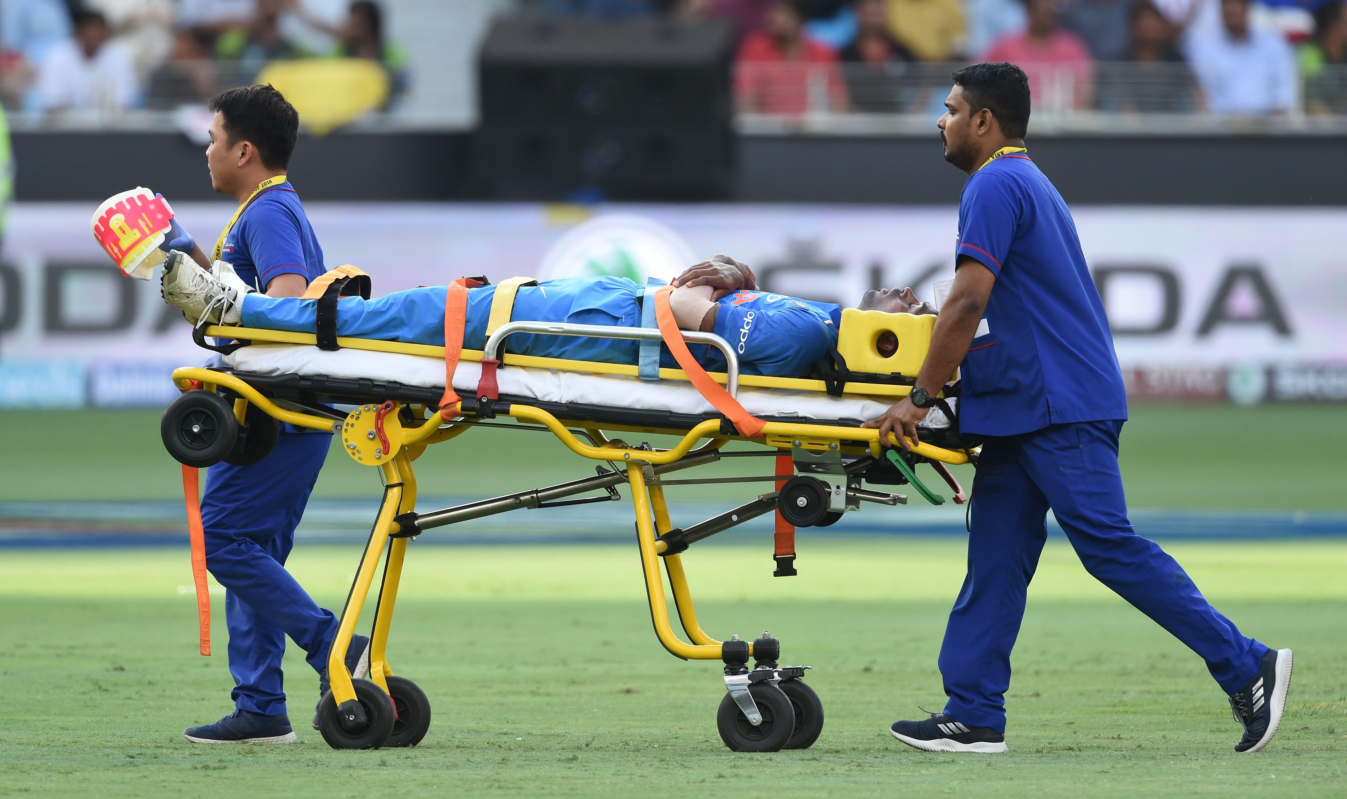 Hardik Pandya had to be taken off on a stretcher during India's ODI clash against Pakistan