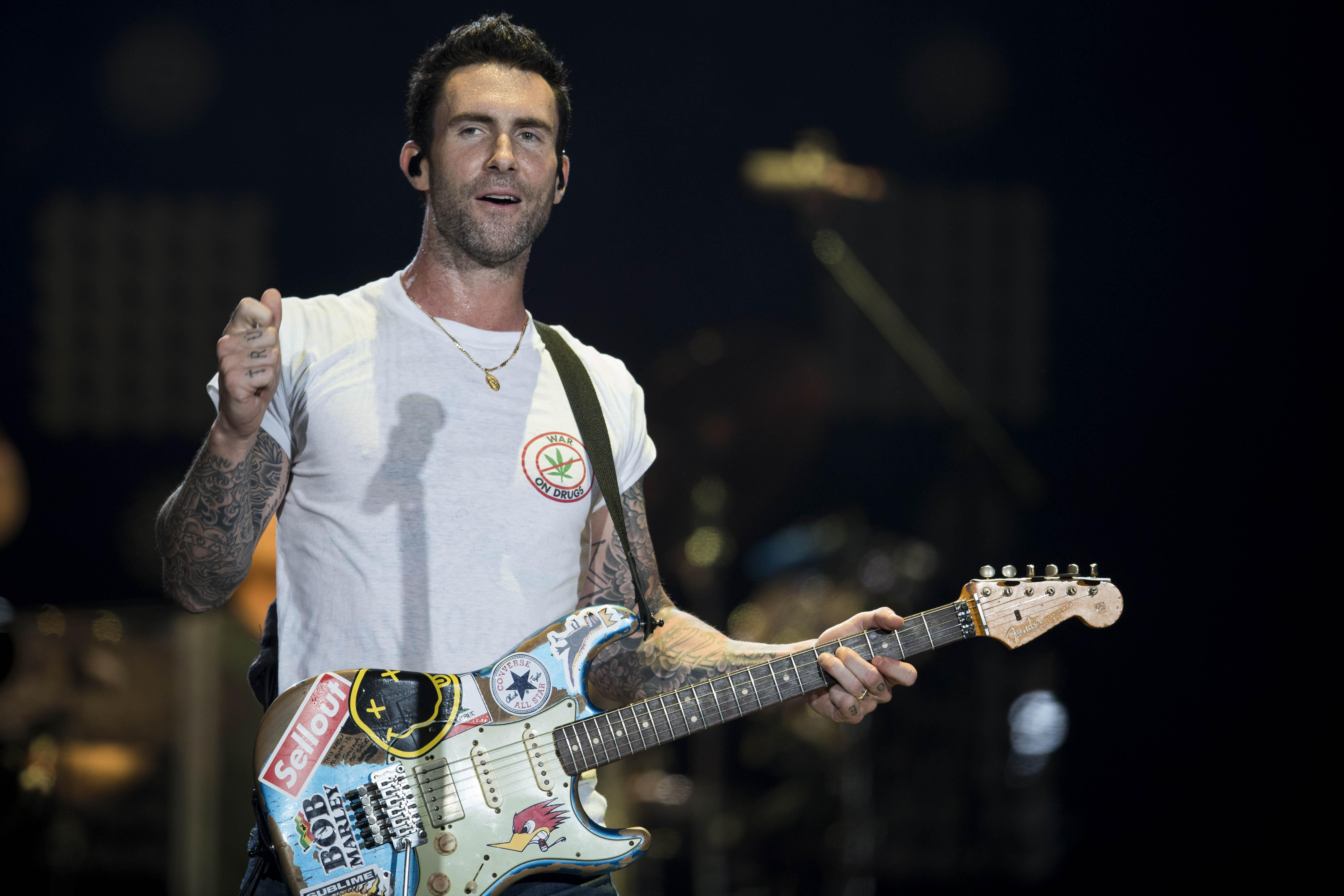 Lead singer of Maroon 5 Adam Levine won't be too happy with some people's reaction to rumours they will be the Super Bowl 2019 half-time entertainment