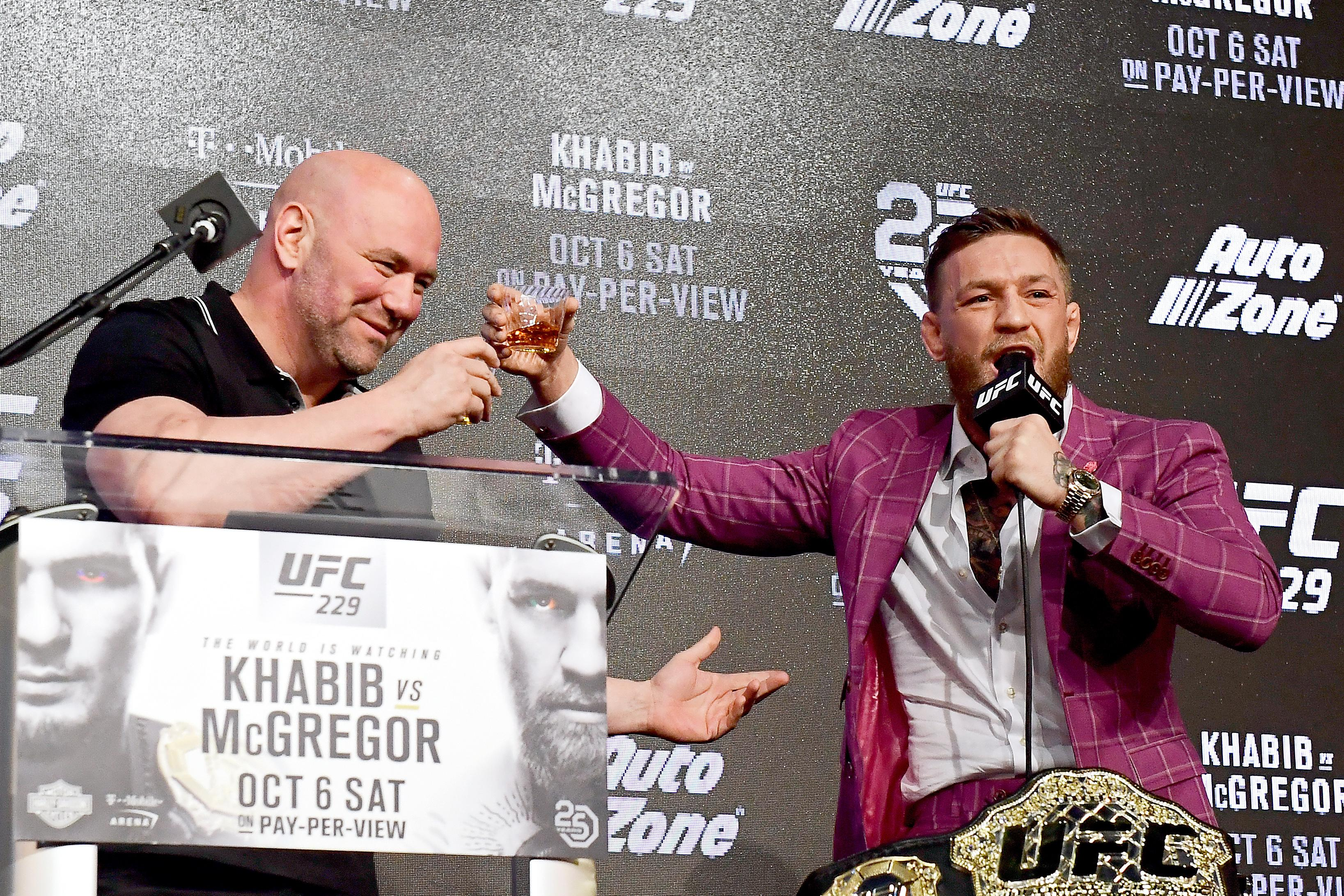 Dana White, who took a drink with the Irish star, revealed a deal had been signed with UFC