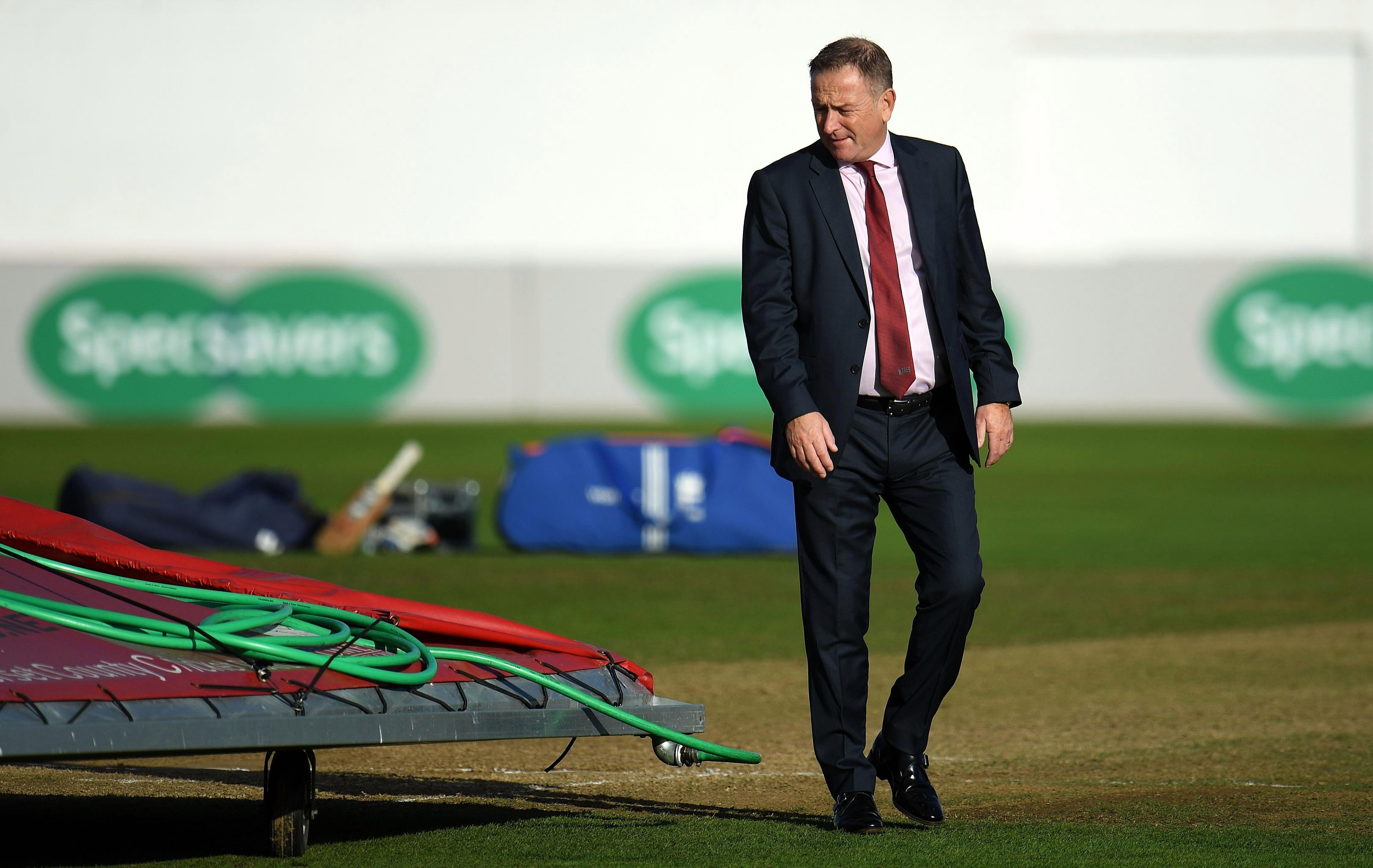 Somerset vs Surrey was called off after pitch was battered by Storm Ali