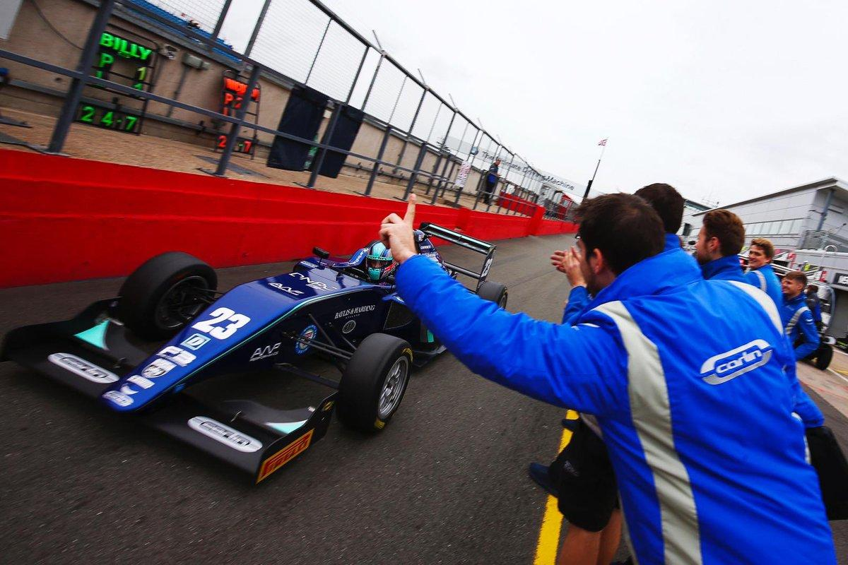 The British star finished fourth after securing pole position for race one at Donington Park