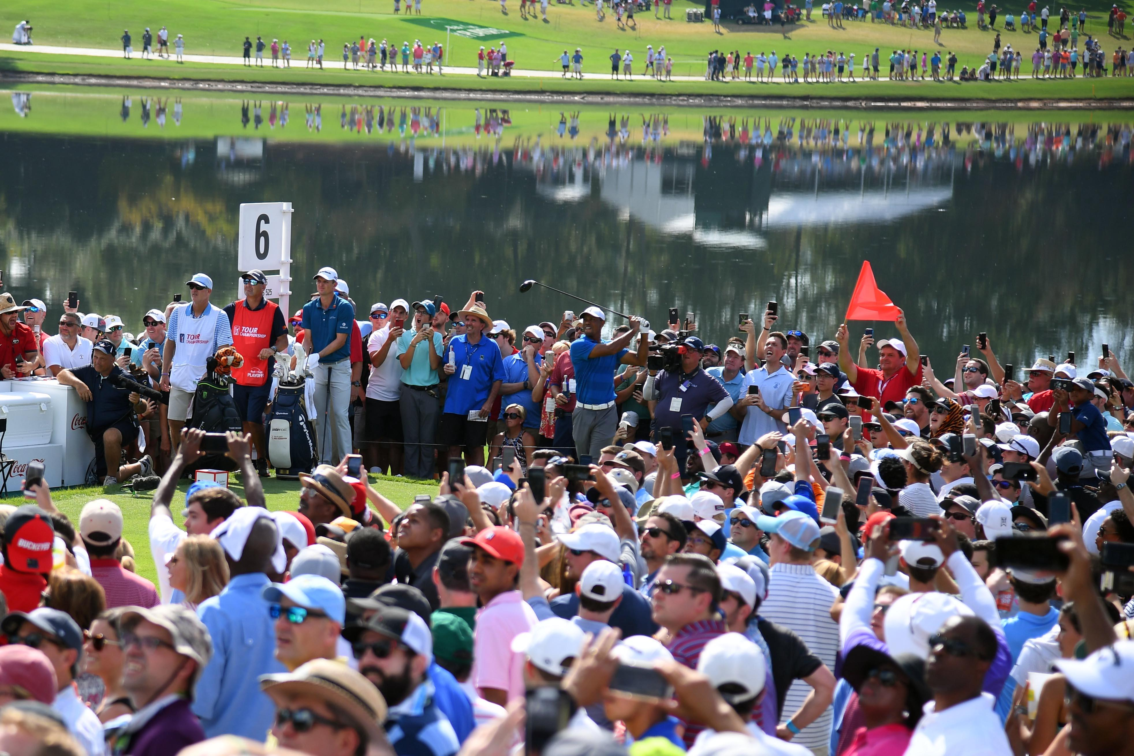 Tiger Woods attracted huge crowds as ever on Saturday