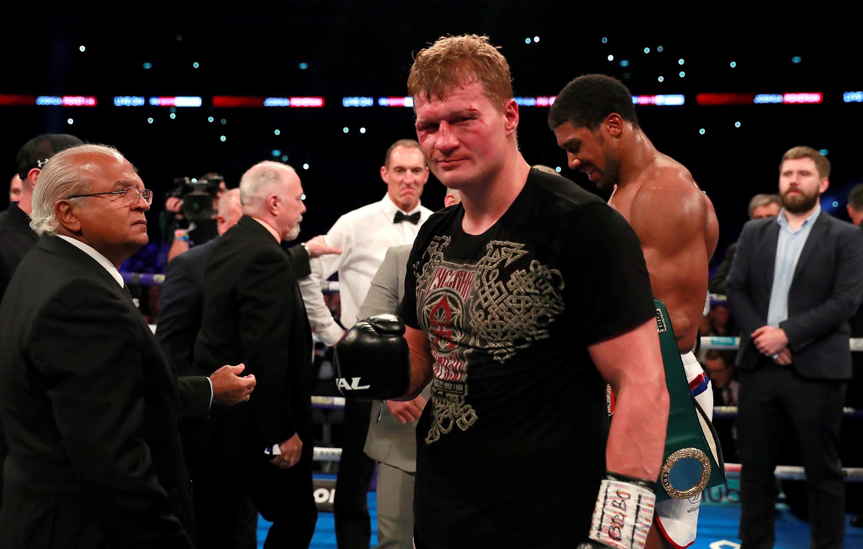 Povetkin was a game opponent for Joshua and was causing problems for the champion in the early rounds