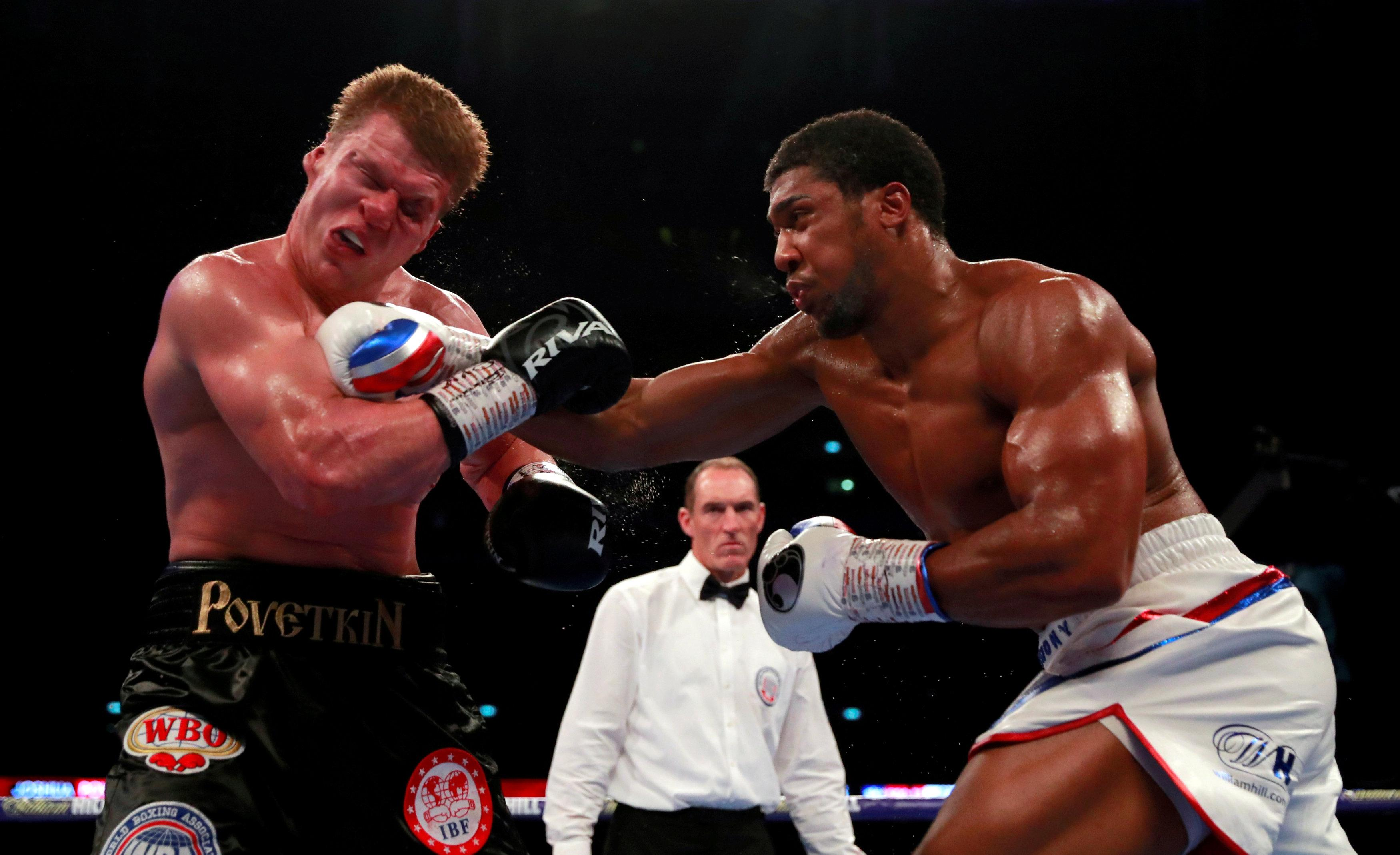 Joshua knocked out Povetkin at Wembley in the seventh round of their thrilling encounter