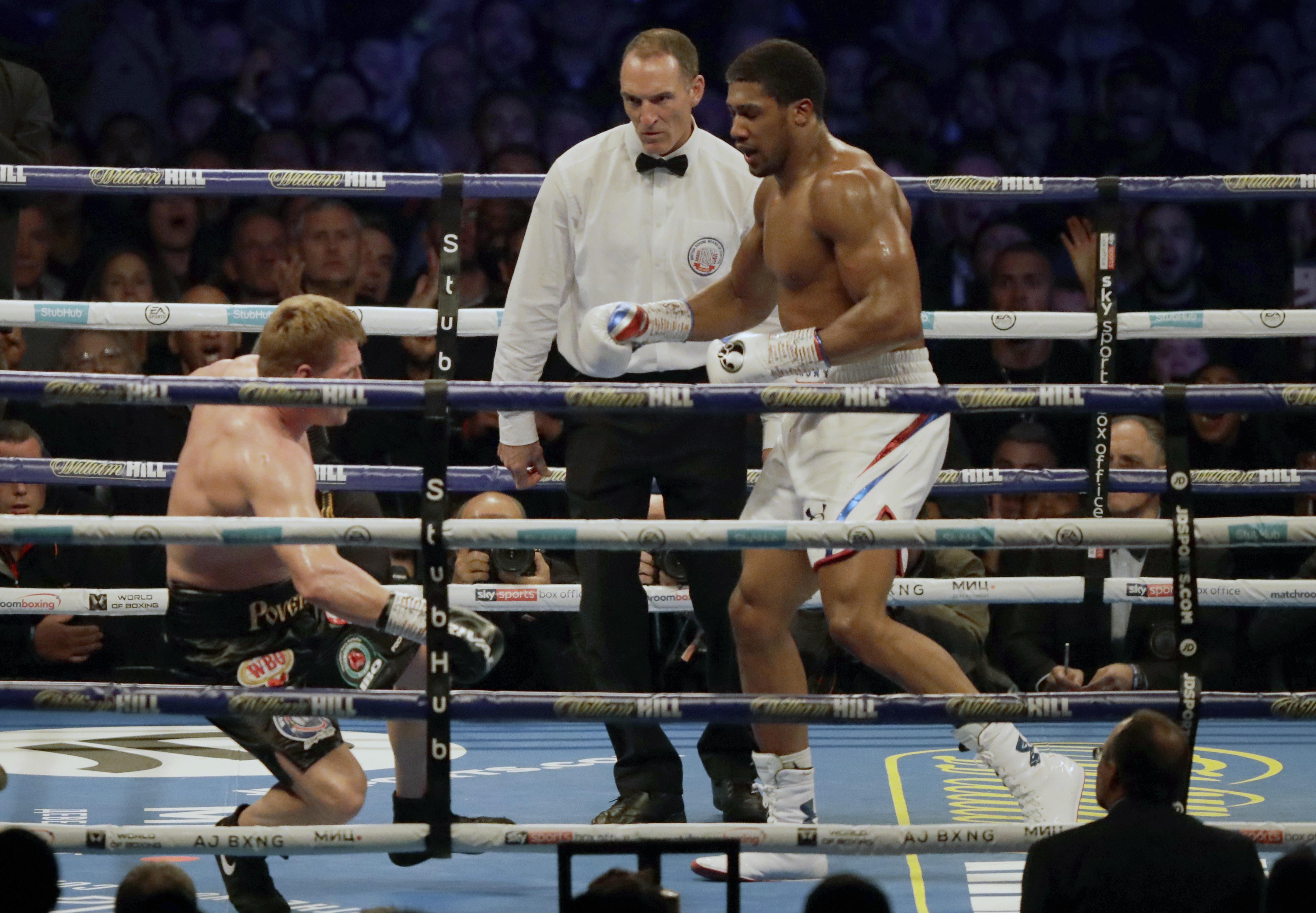 Anthony Joshua knocked Alexander Povetkin out in the seventh round