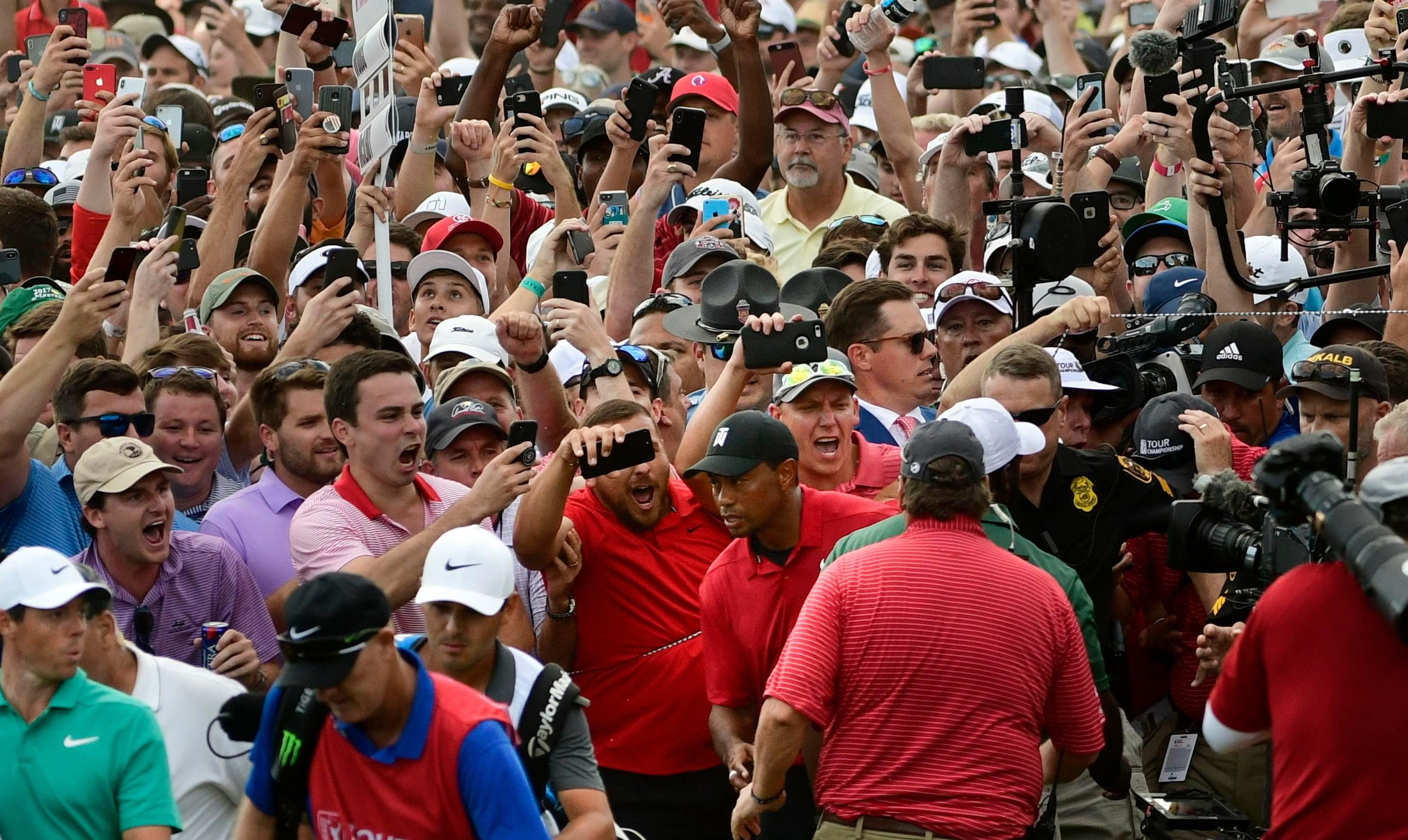 Tiger Woods' fever was well and truly back on Sunday after the 80th Tour win of his stunning career
