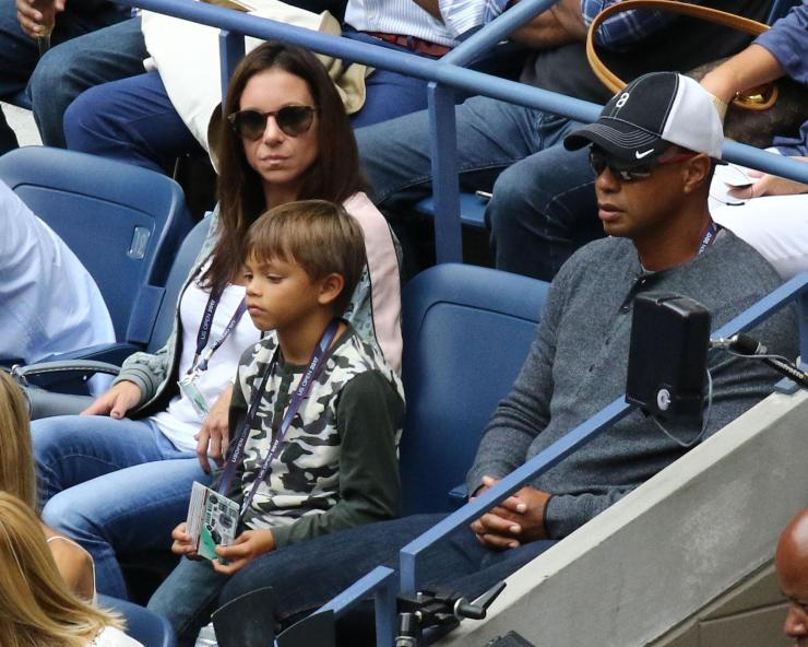 Tiger Woods at the US Open with Erica and Charlie