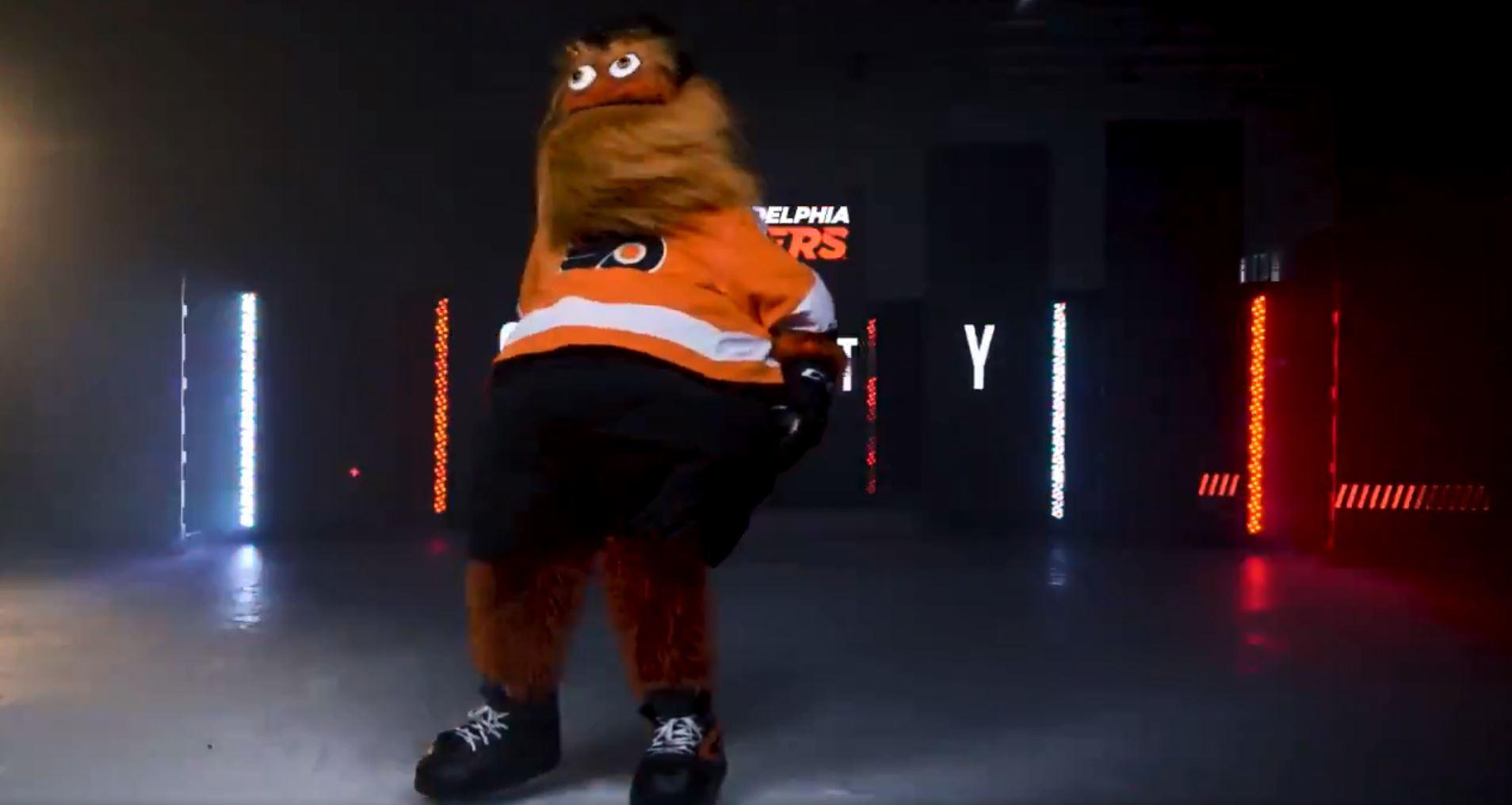 "The NHL club described Gritty as the ""newest member of the Flyers family"""