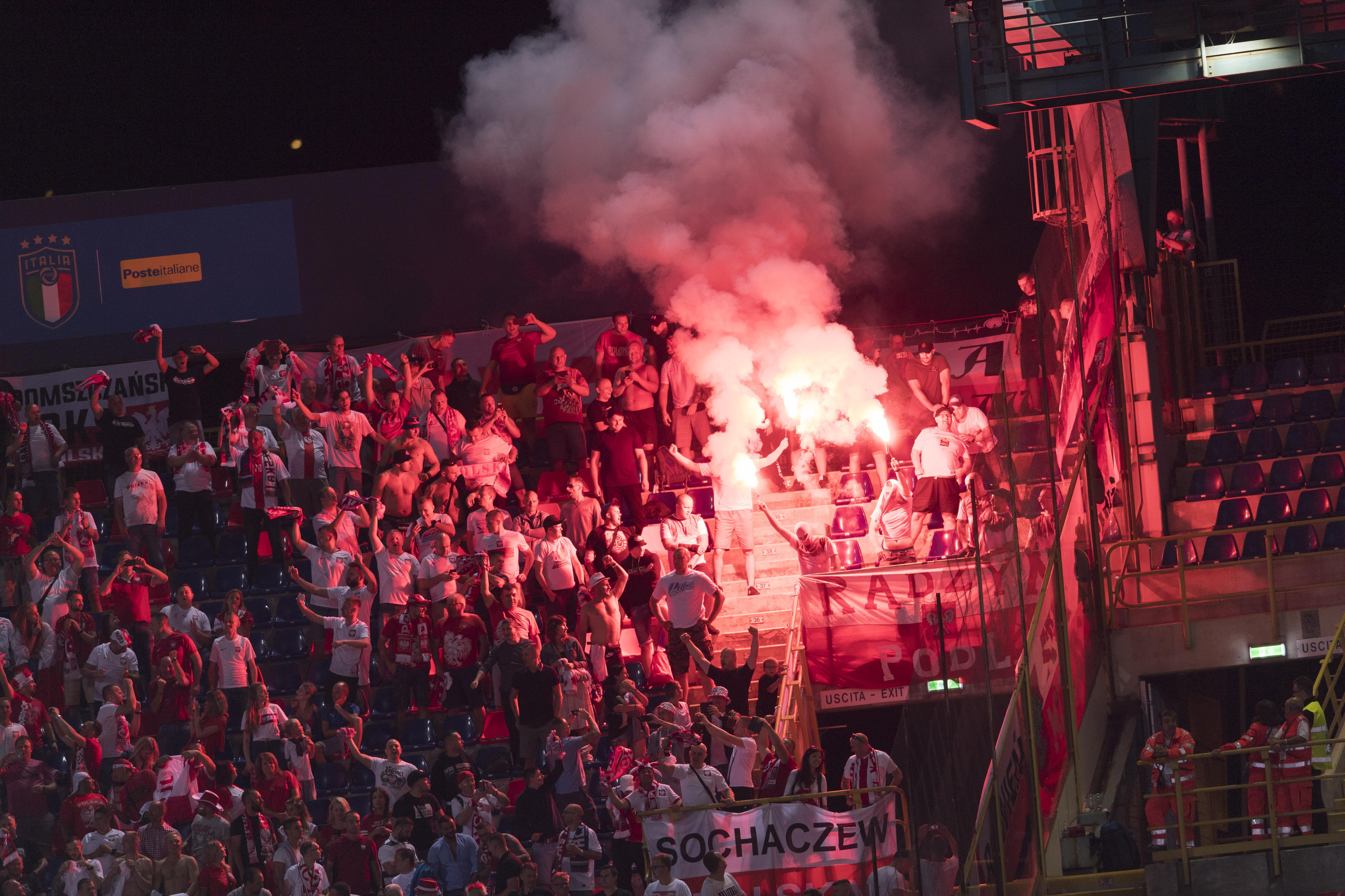 A fine and partial stadium ban are being imposed on the Polish Football Association
