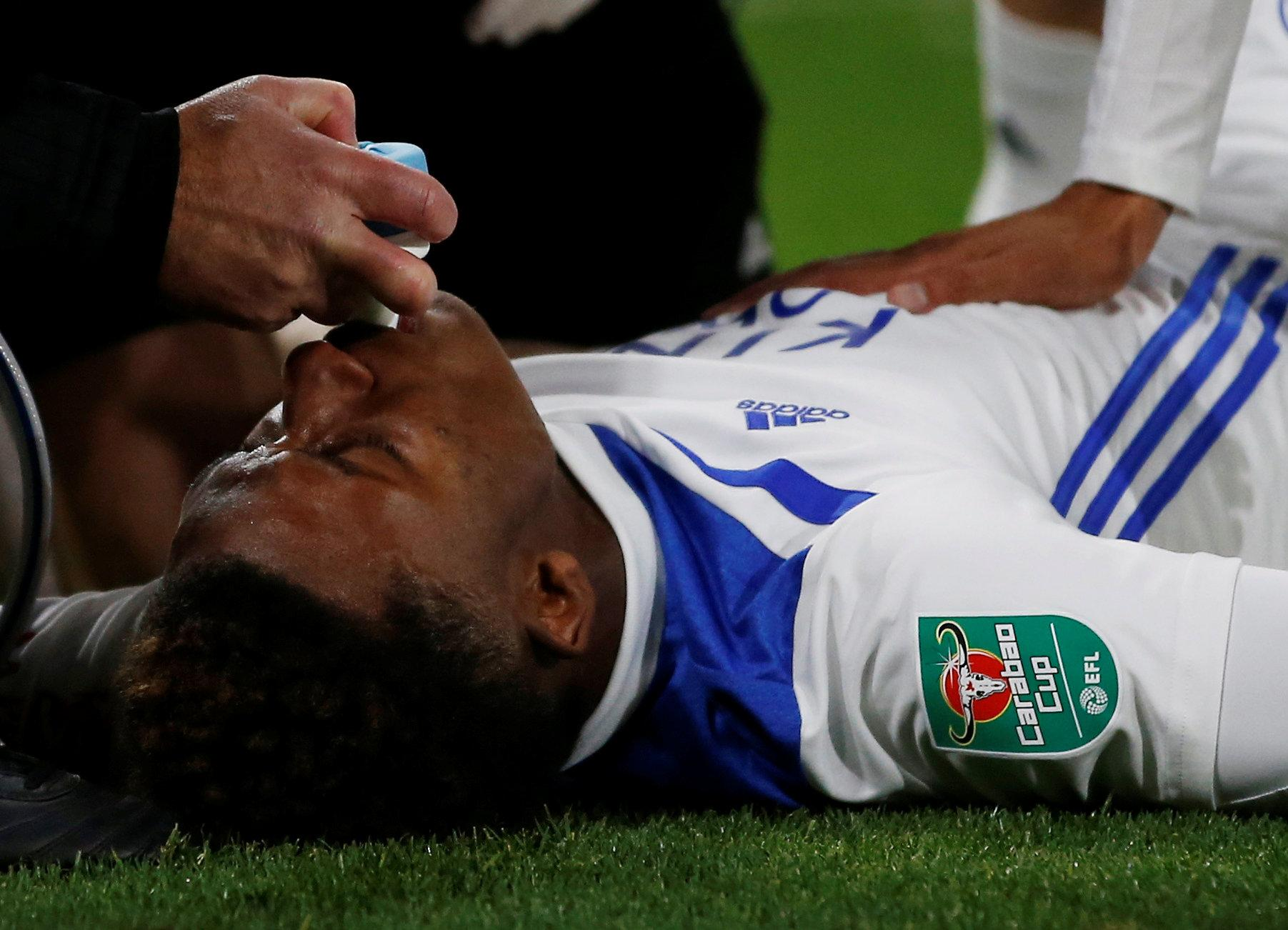 Demarai Gray required oxygen as he was taken off at Wolves
