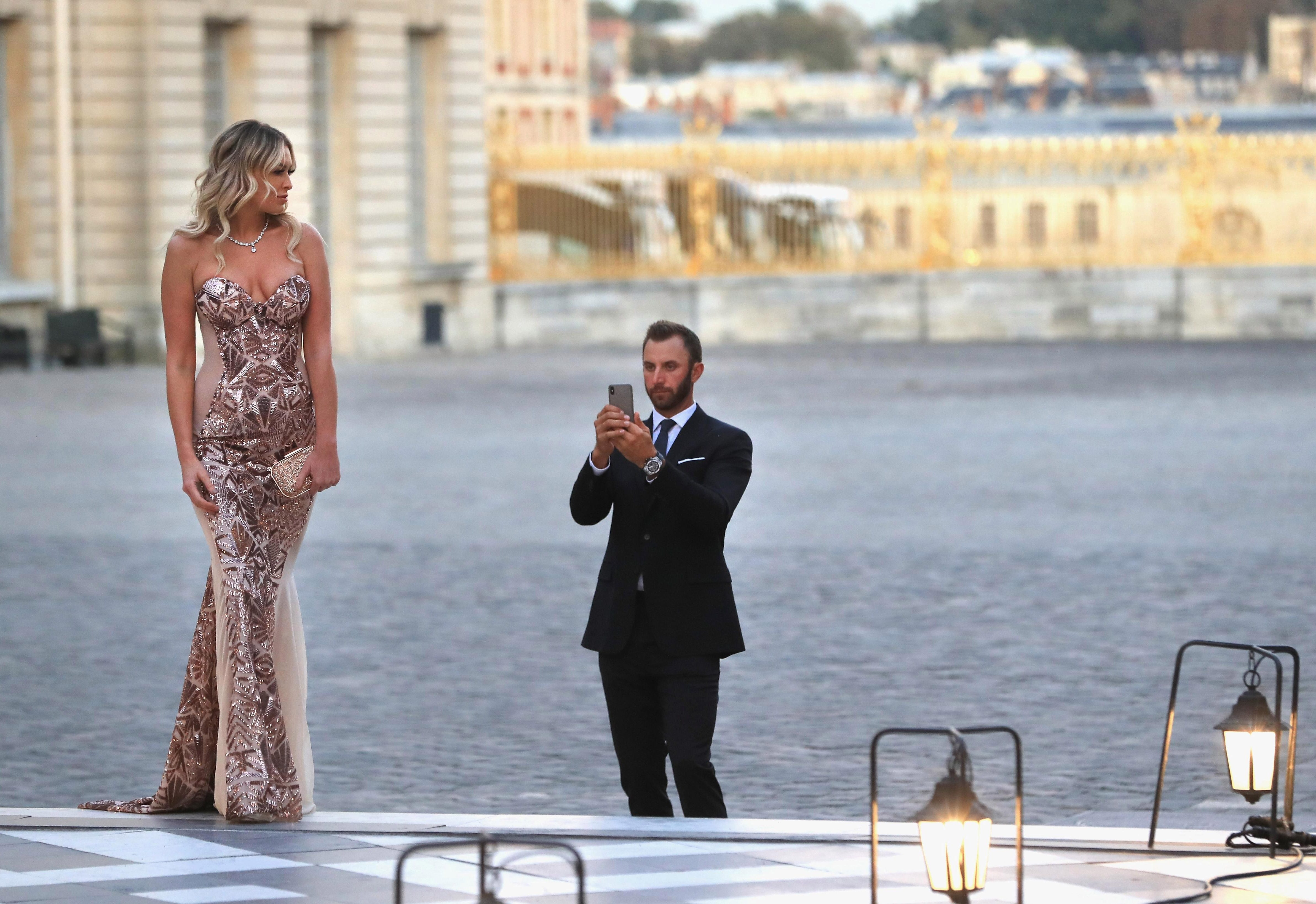 Paulina Gretzky wowed onlookers as she made it to Paris to be with her fiancee at the Ryder Cup