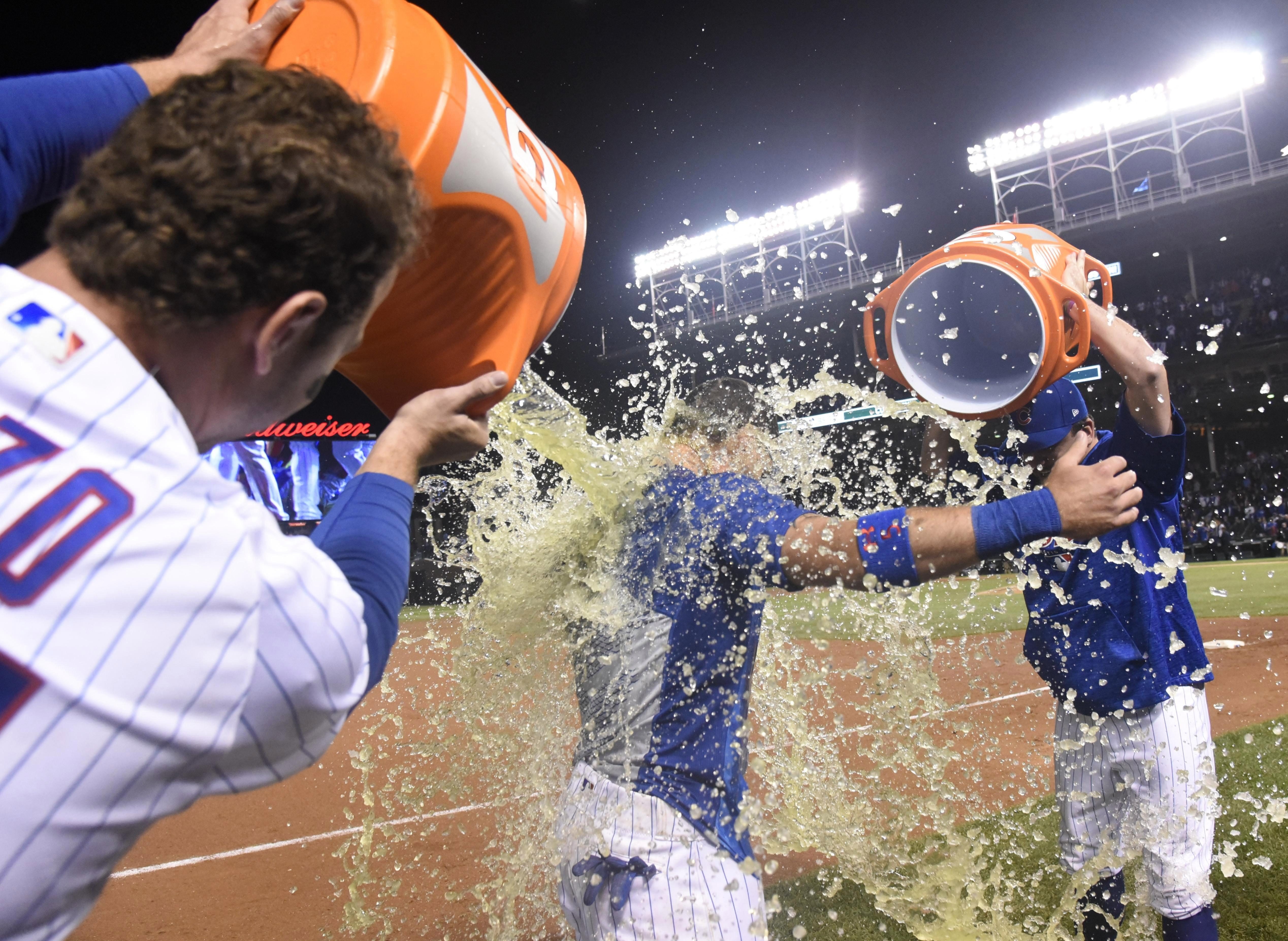 Chicago celebrated as they were through to compete for the National League Central championship