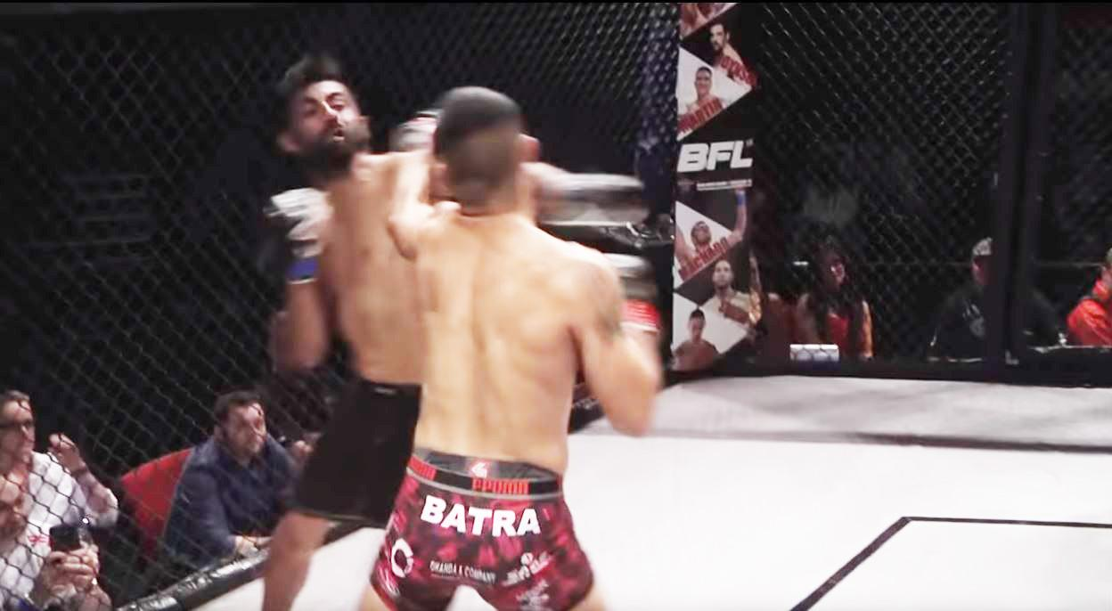 Hayer was knocked the canvas after a left hook to the face