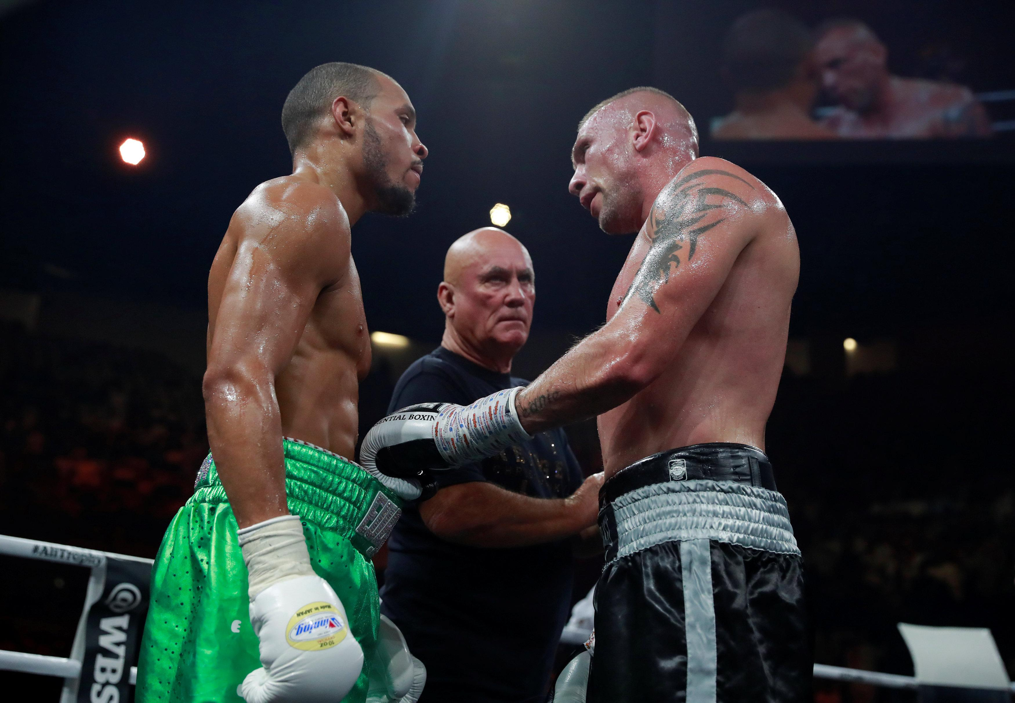 Tensions threatened to boil over after the fight between McDonagh and Eubank Jr
