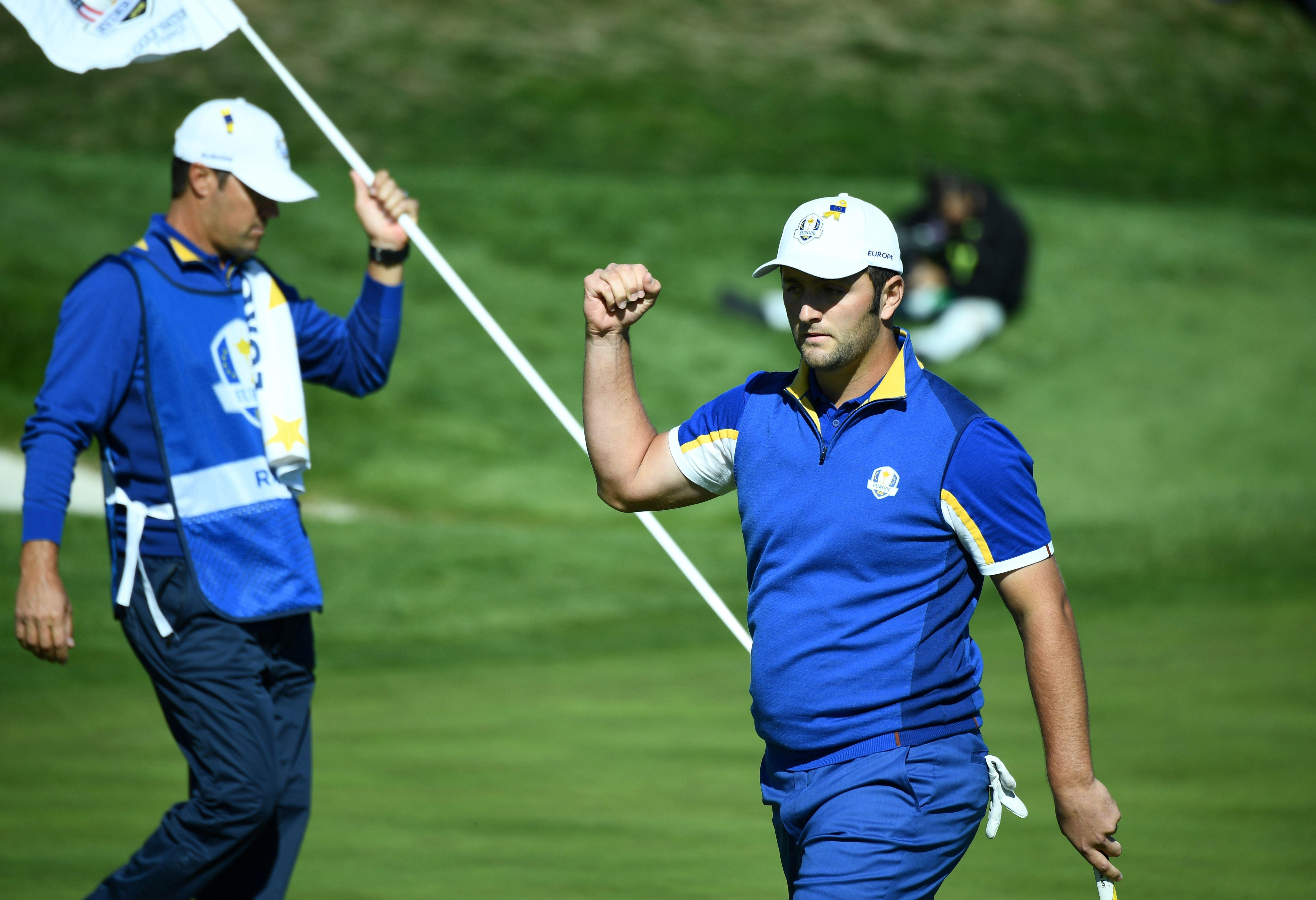 Jon Rahm beat Tiger Woods on the final day to help secure victory