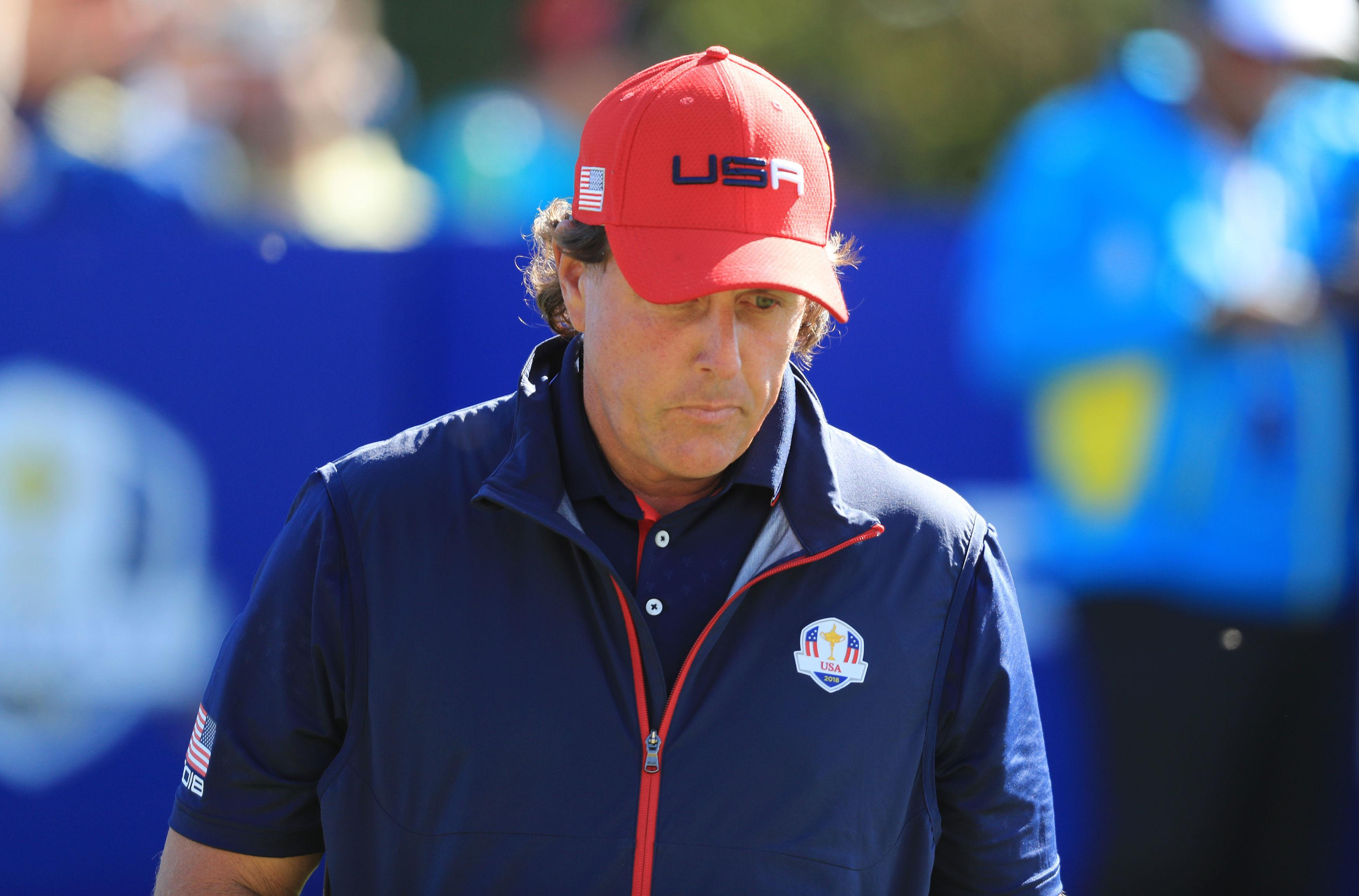 Phil Mickelson failed to win a point this year and has now lost the most matches in Ryder Cup history