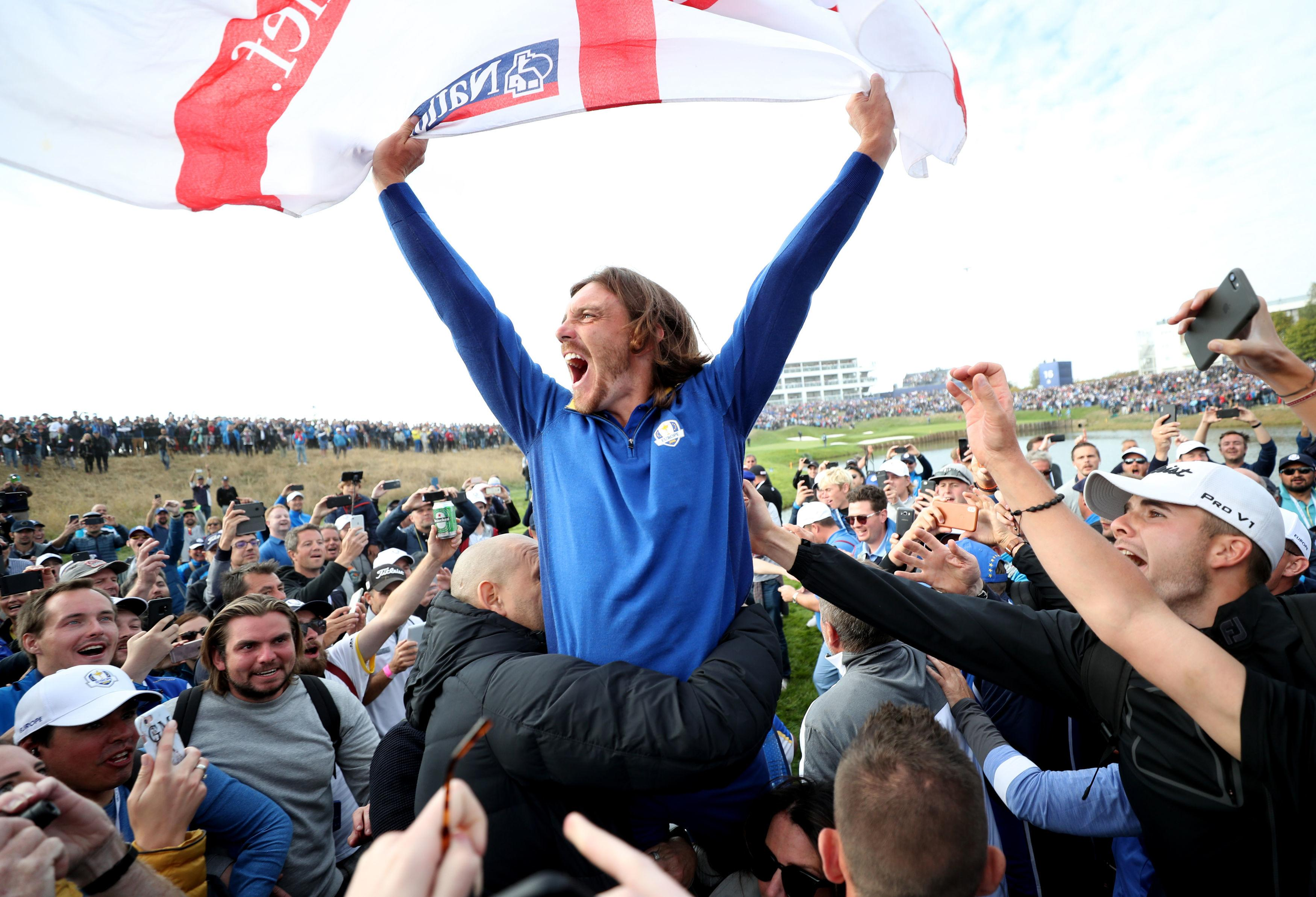Tommy Fleetwood couldn't contain his excitement after the win