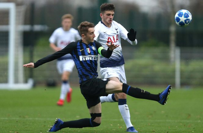 Troy Parrot, here in a Youth League game against Inter, has been training with Tottenham's first-team